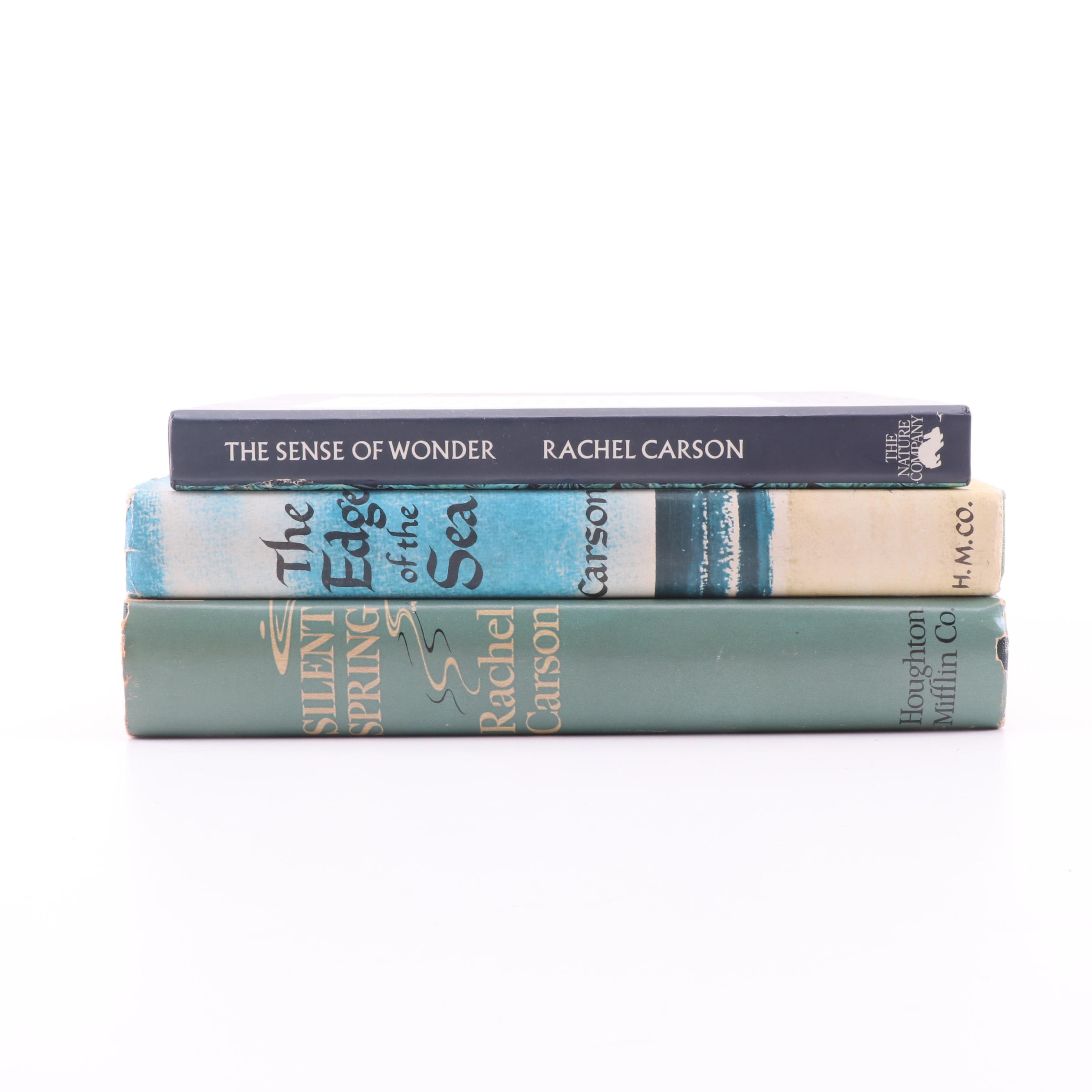 "Rachel Carson Books including First Printing ""The Edge of the Sea"""