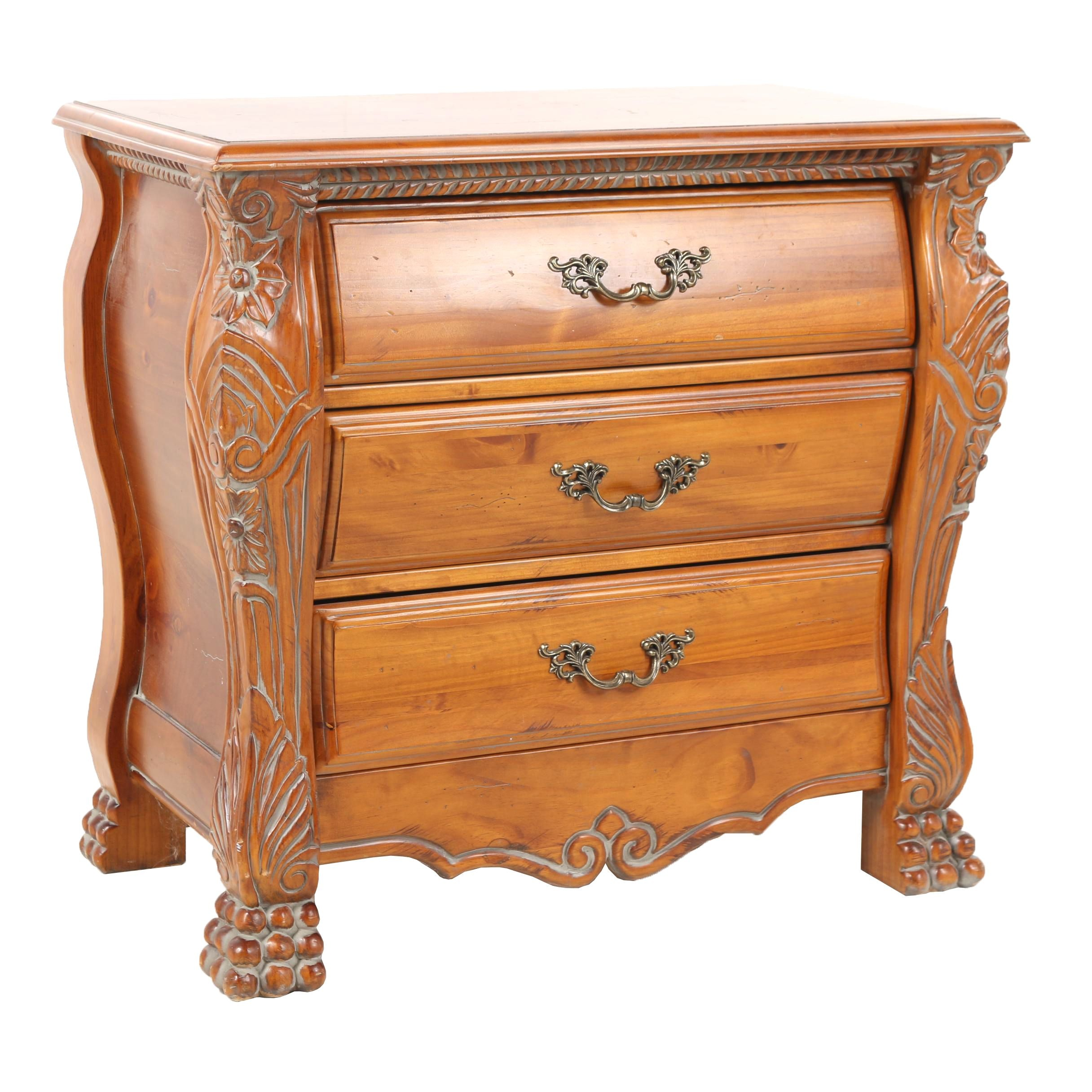Wooden Small Chest of Three Drawers, 21st Century