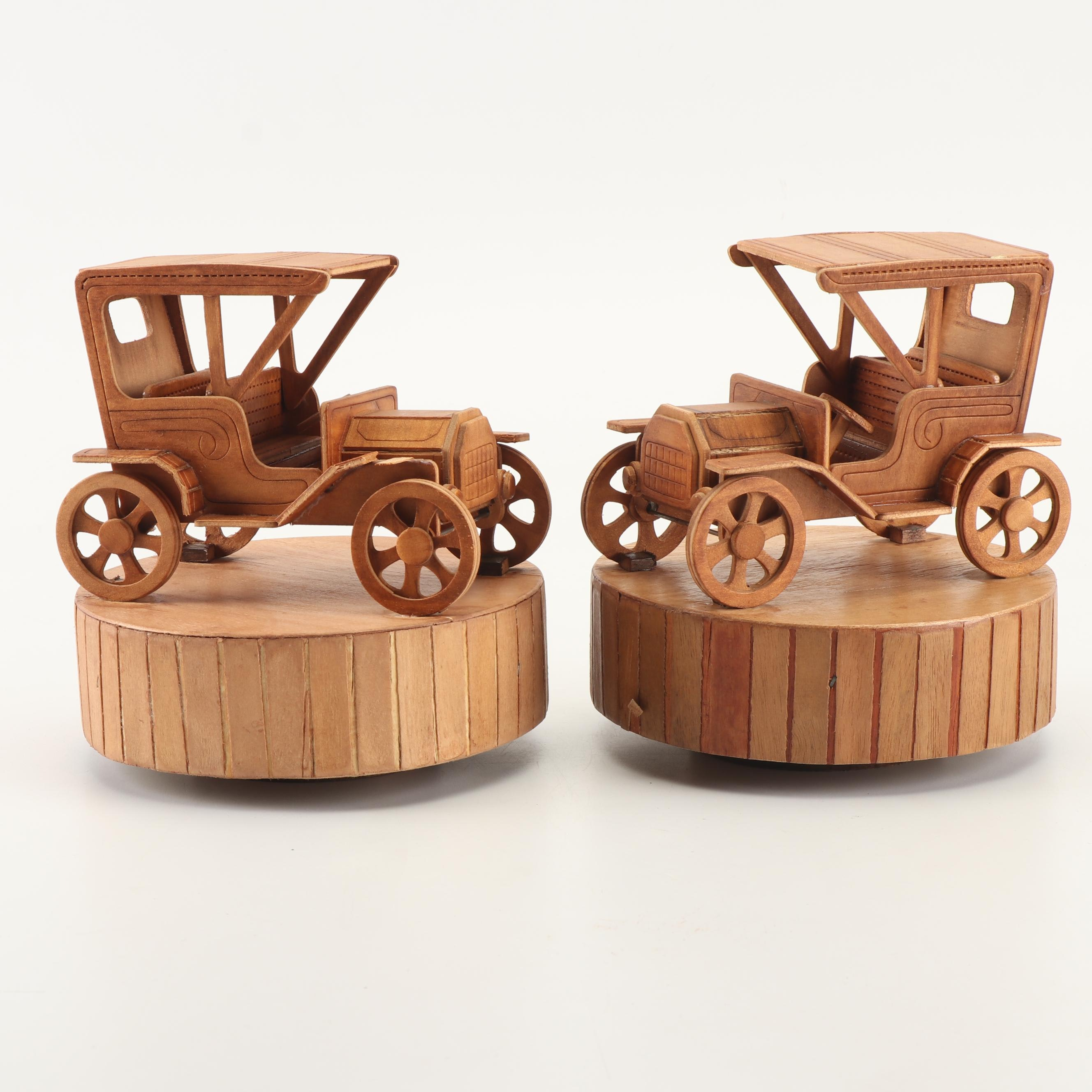 "Wooden Model T Music Boxes Featuring ""King of the Road"""