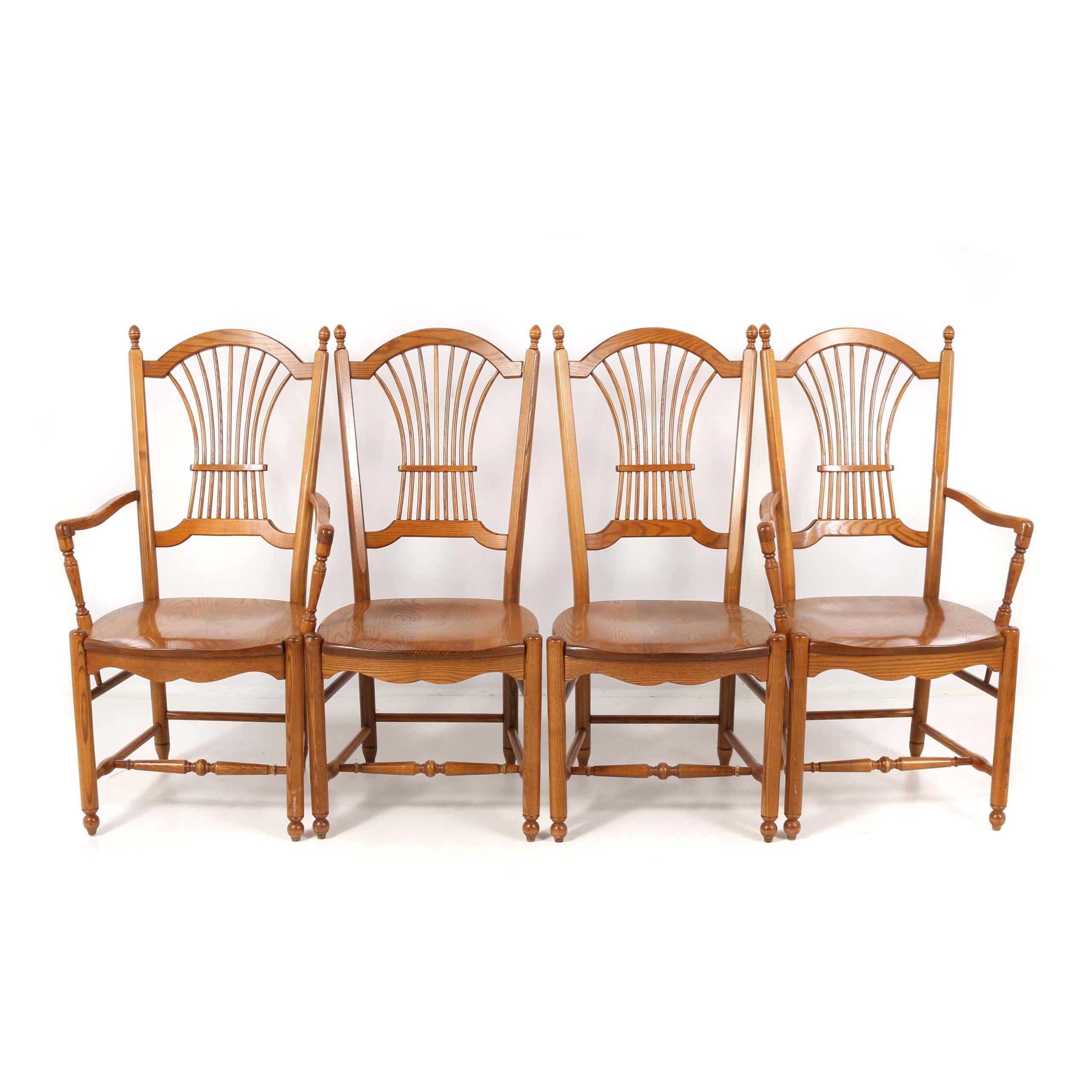 Oak Dining Chairs by S. Bent & Bros., 21st Century
