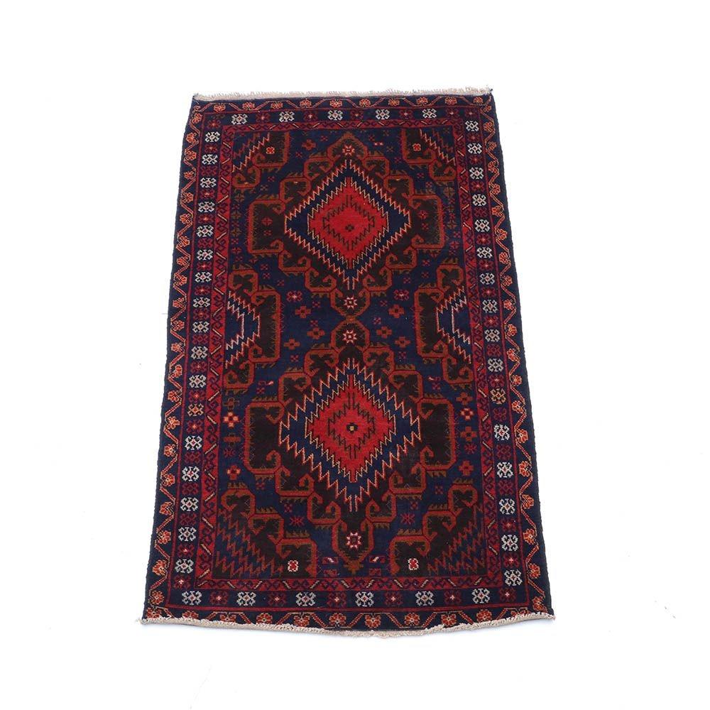 Hand-Knotted Persian Zanjan Area Rug