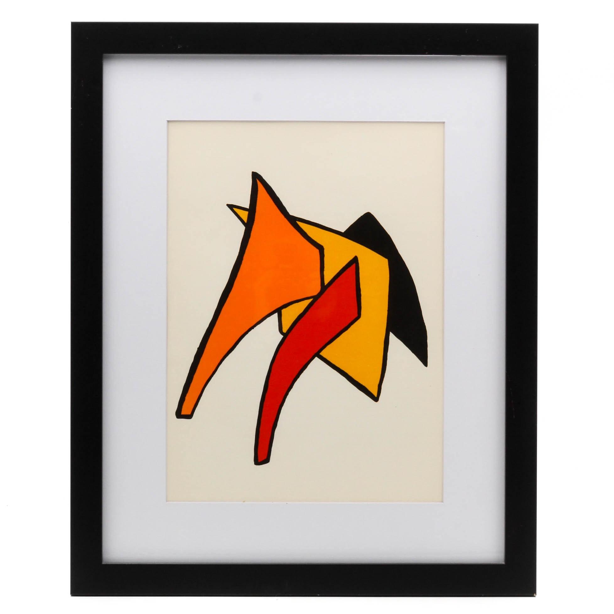 """Alexander Calder Lithograph for 1963 """"Derriere Le Miroir"""""""