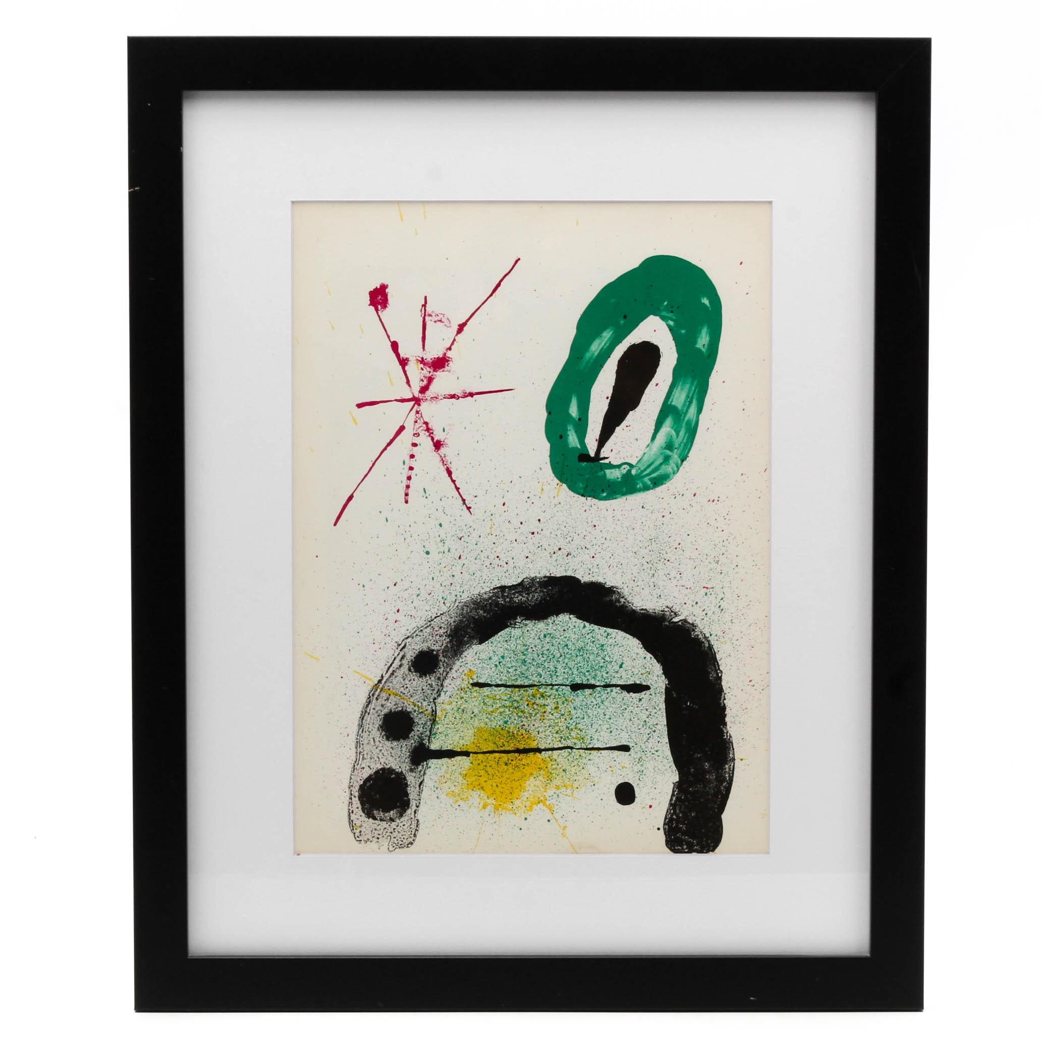 """Joan Miro Color Lithograph for """"Derrière le Miroir"""""""