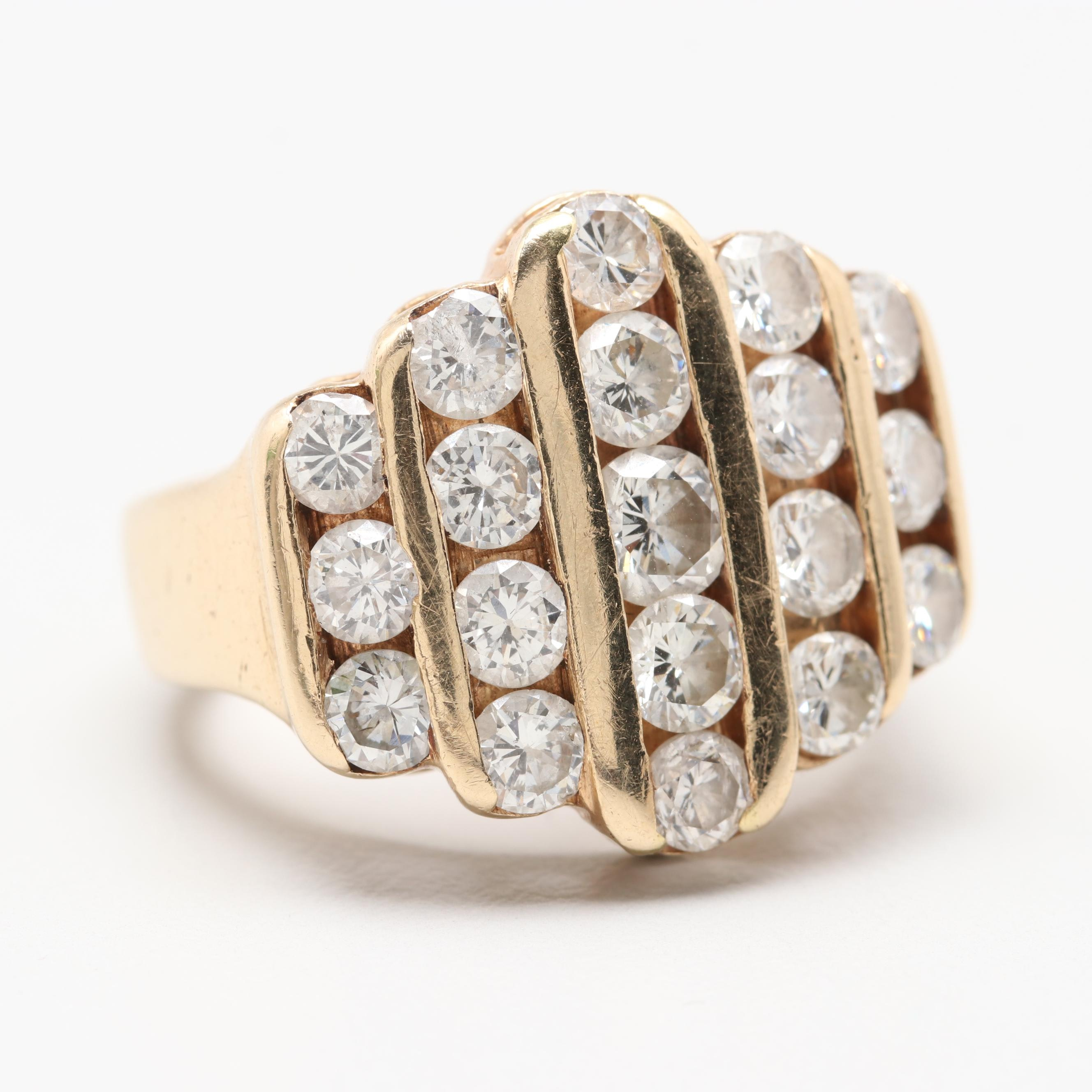 14K Yellow Gold 3.50 CTW Diamond Ring