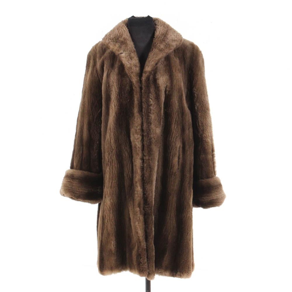 Vintage Mouton Fur Coat by Juan de Cirota
