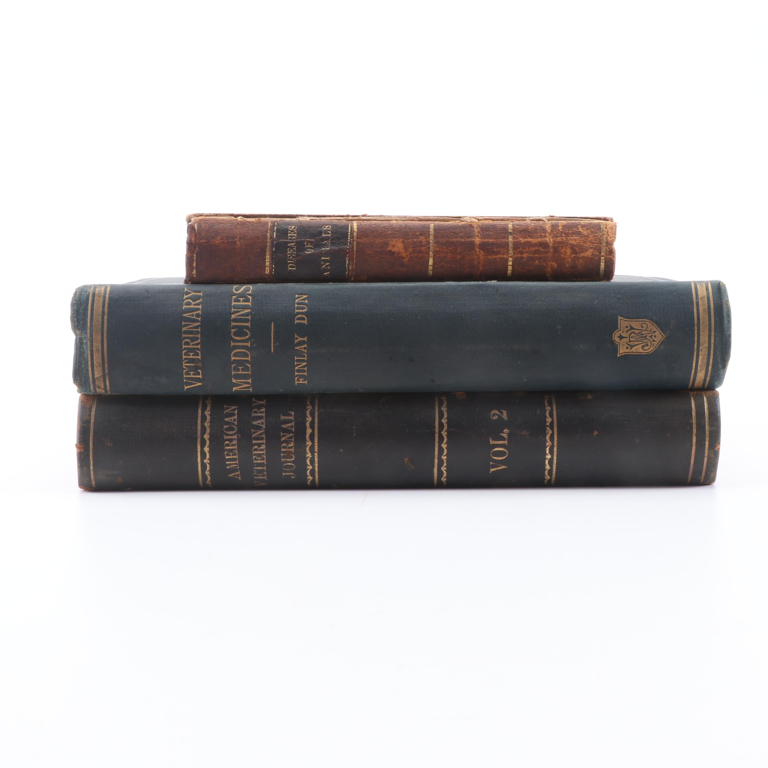 Mid to Late 19th Century Veterinary Books