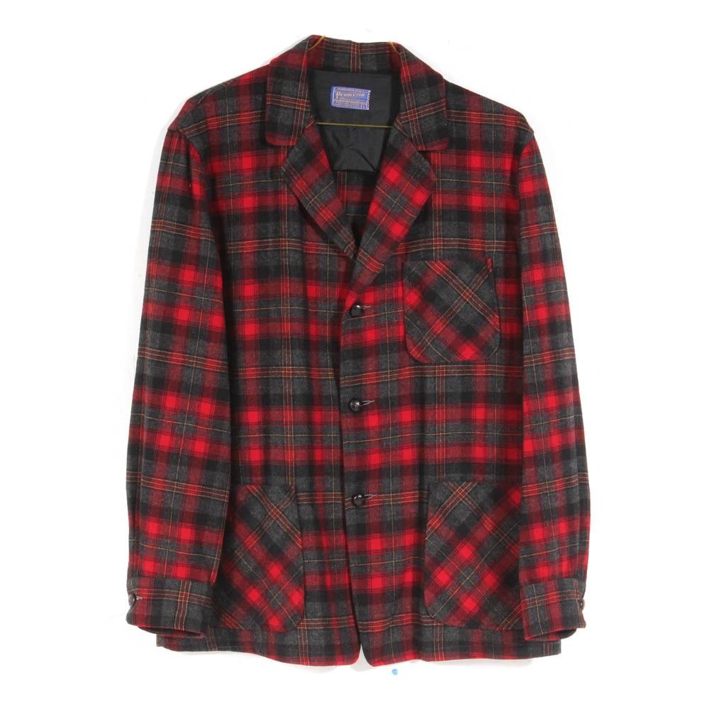 Pendelton Tartan Wool Blazer