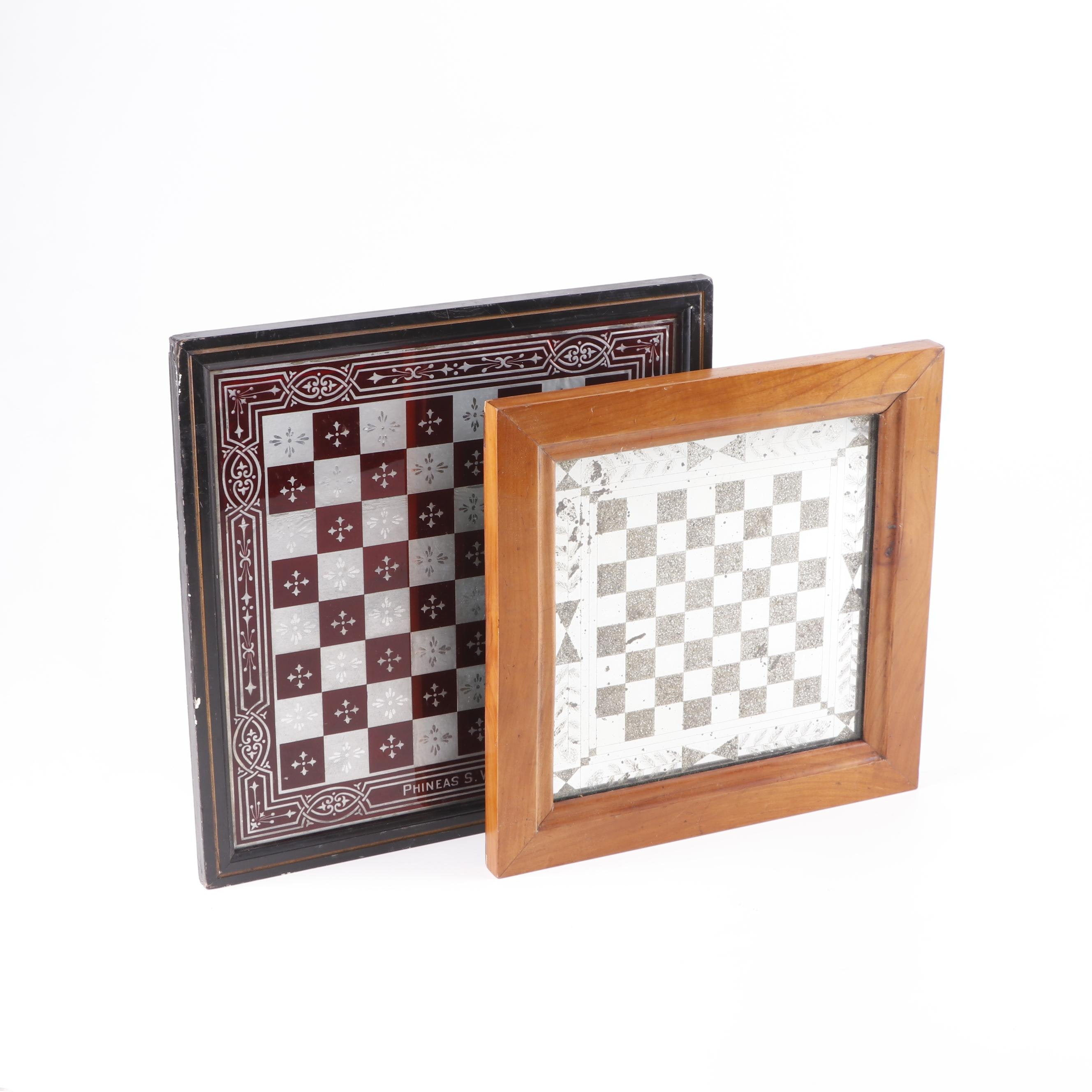 Chess Boards including Phineas S. Wood