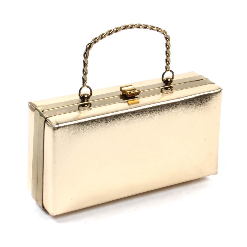 Andé Gold Lamé Handbag