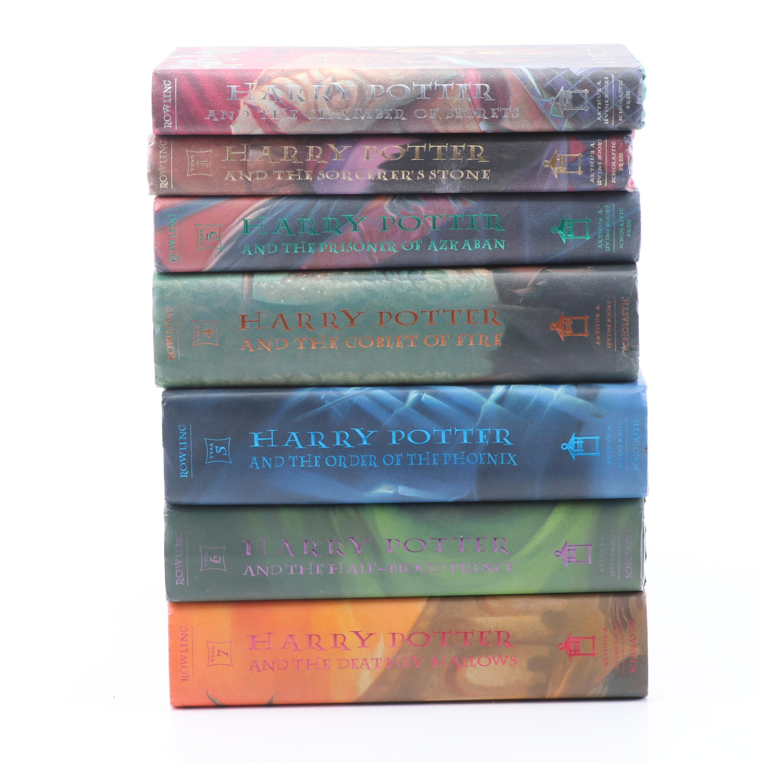 "First American Edition ""Harry Potter"" Series with First Printing ""Chamber"""