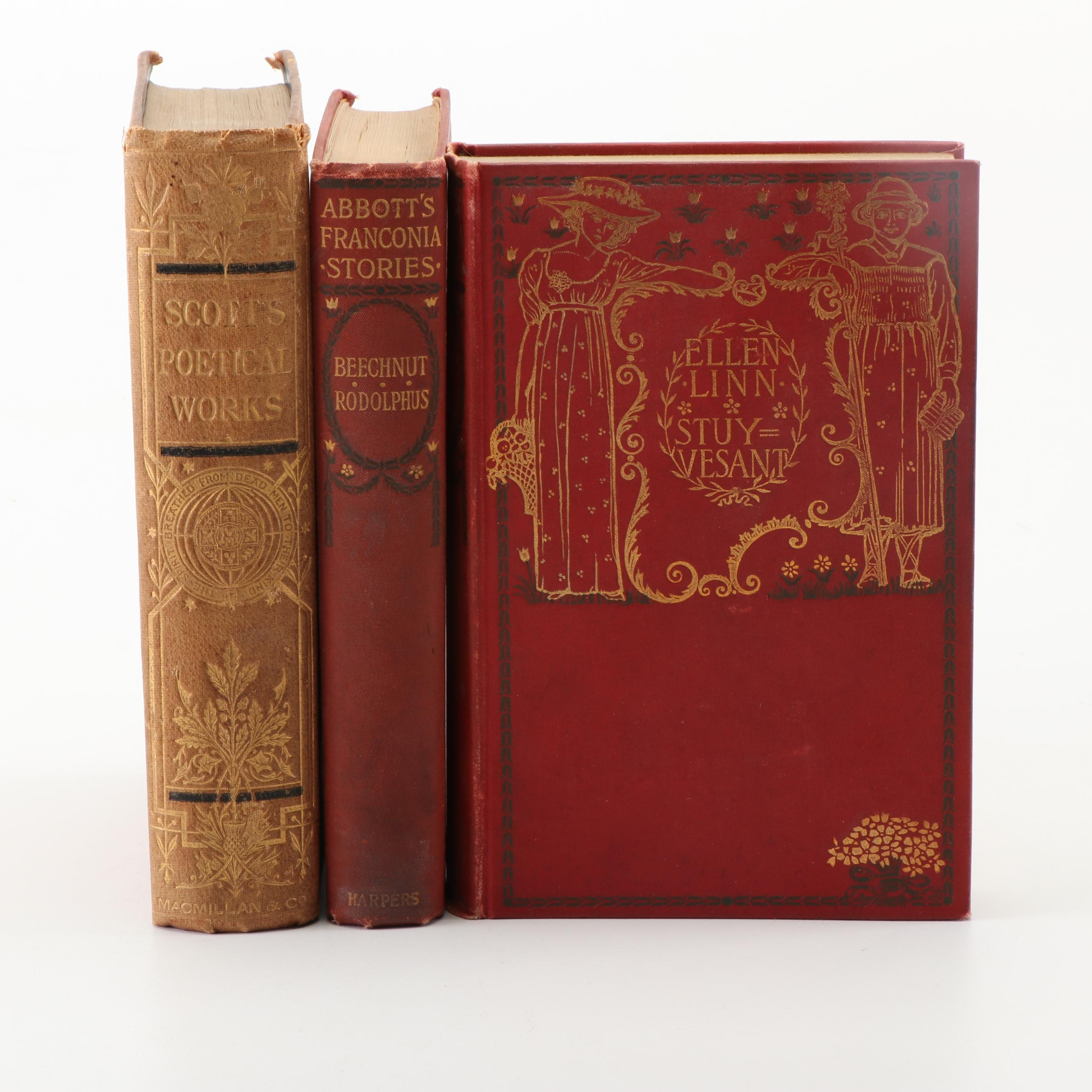 Late 19th Century Works by Jacob Abbott and Sir Walter Scott