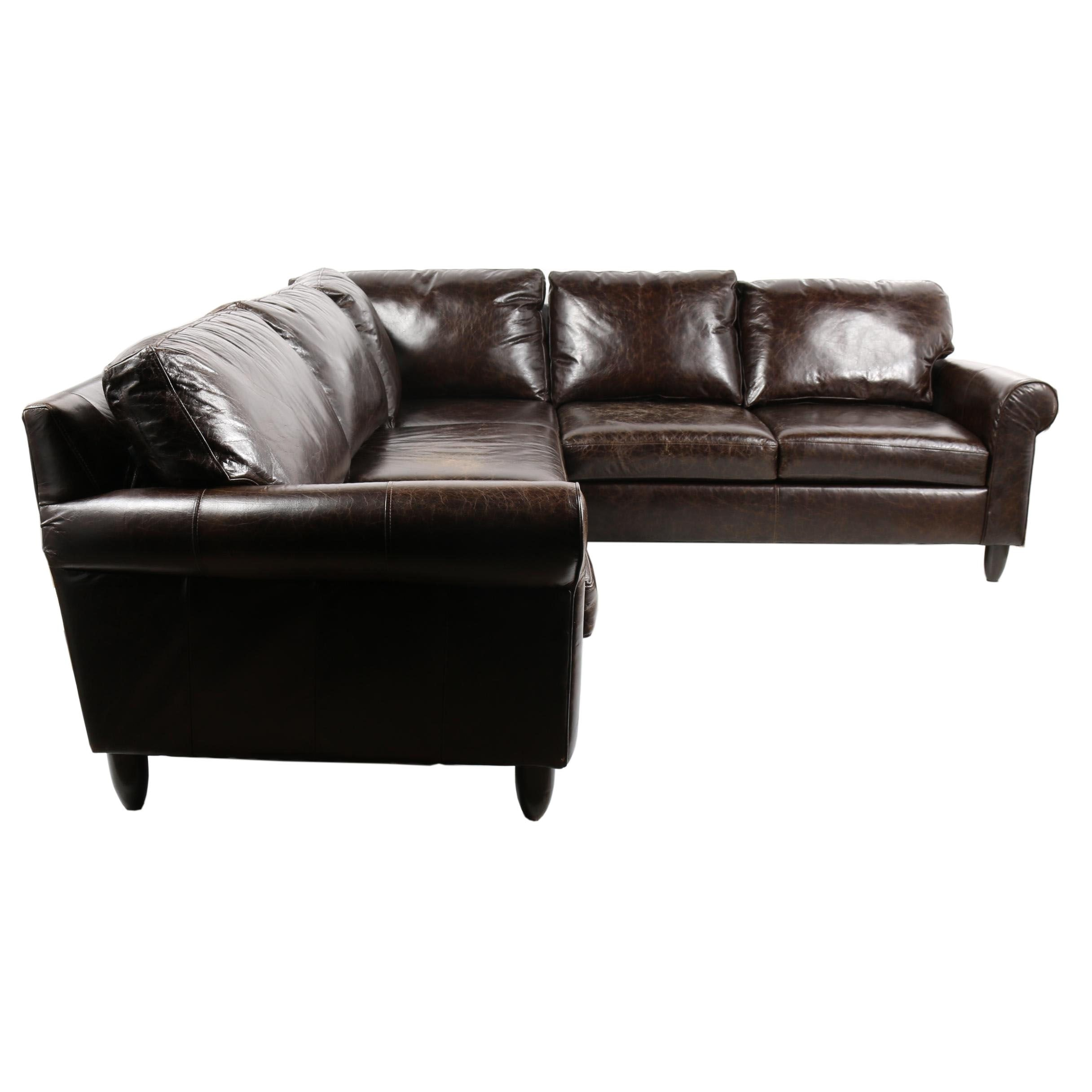 Leather Sectional Sofa by Haverty's, 21st Century