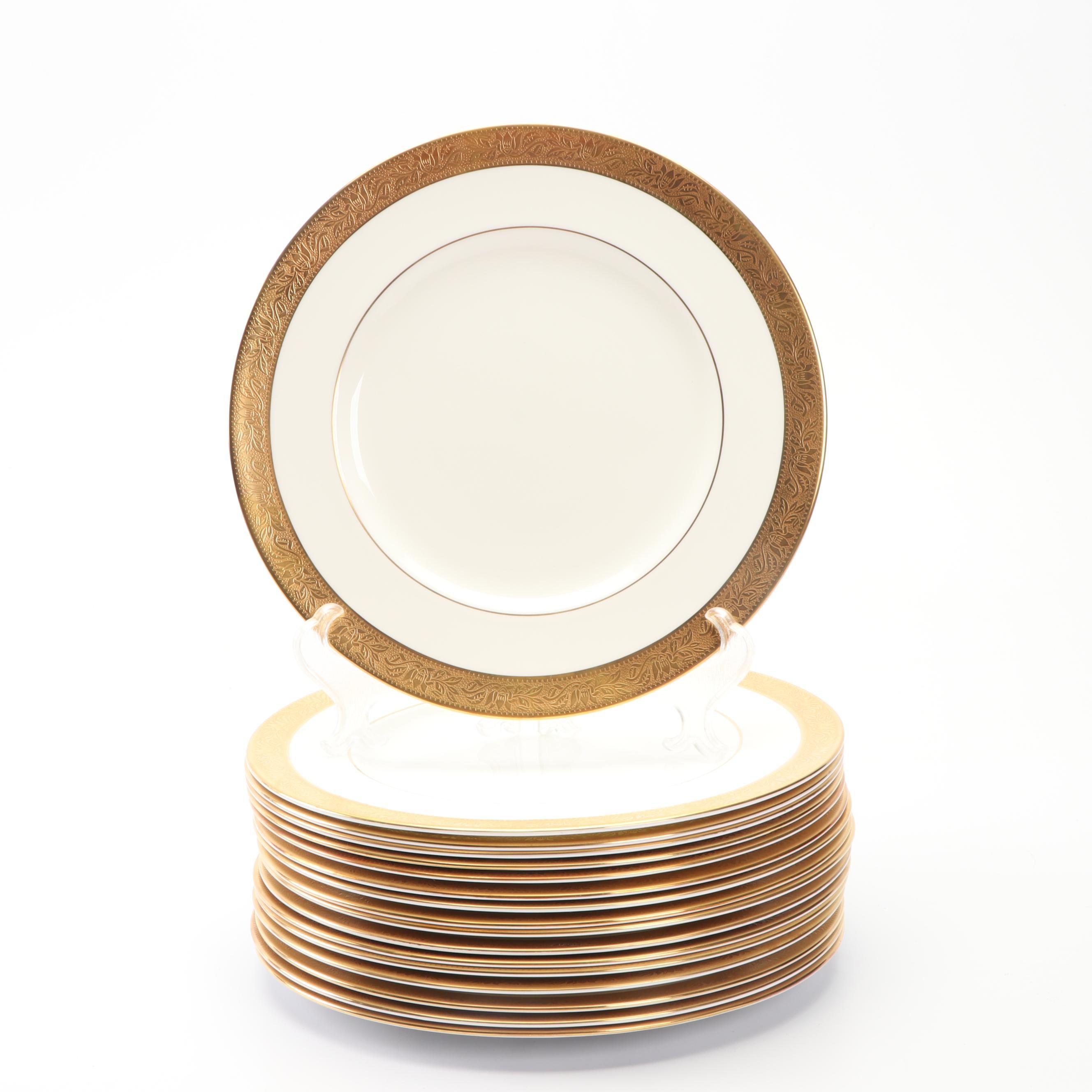 "Wedgwood ""Ascot"" Bone China Dinner Plates"