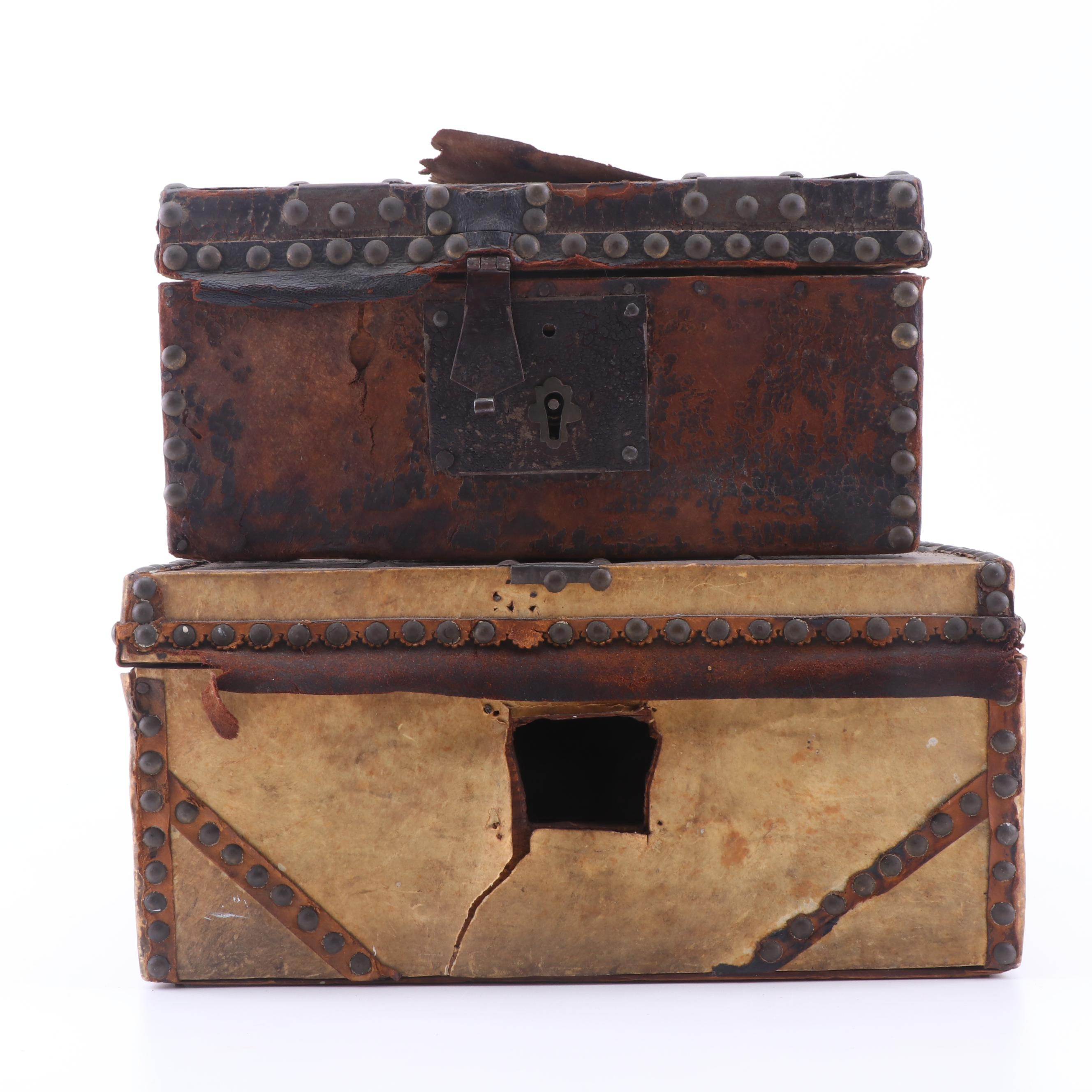 Antique Trunk Boxes by Robert Burr and Thaddeus Osgood