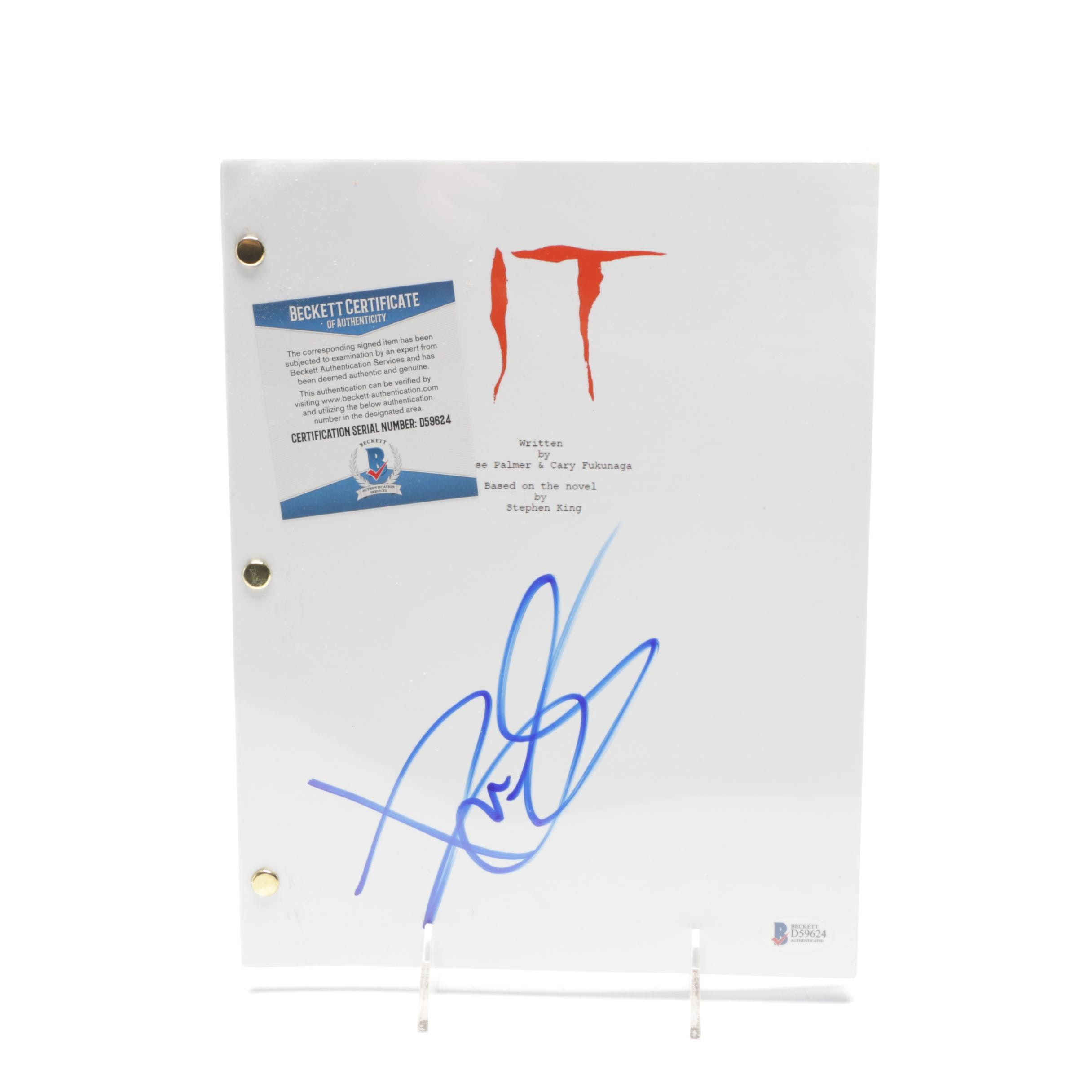 "2017 Stephen King Signed ""It"" Screen Play COA"