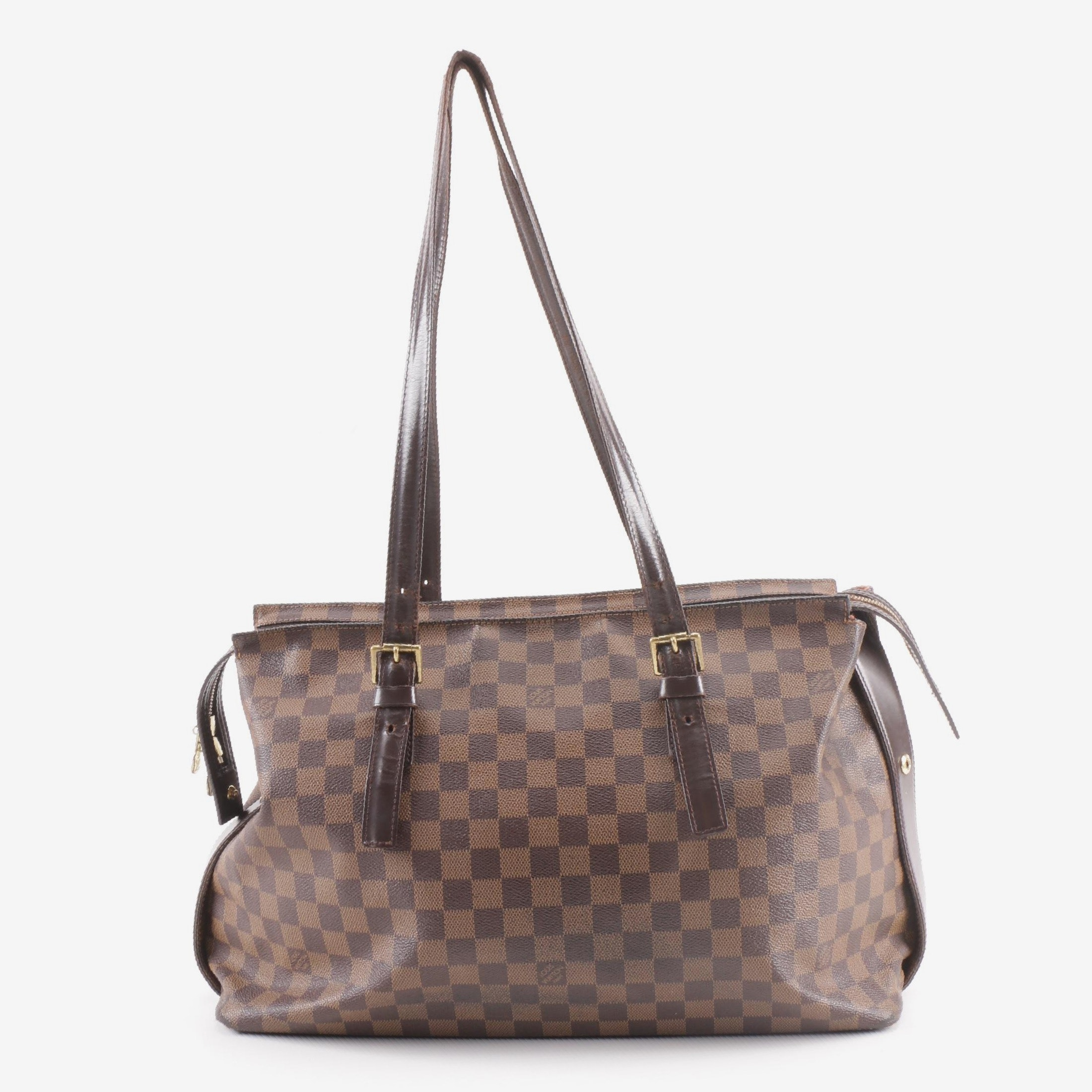 2012 Louis Vuitton Paris Damier Ebene Canvas Chelsea Tote
