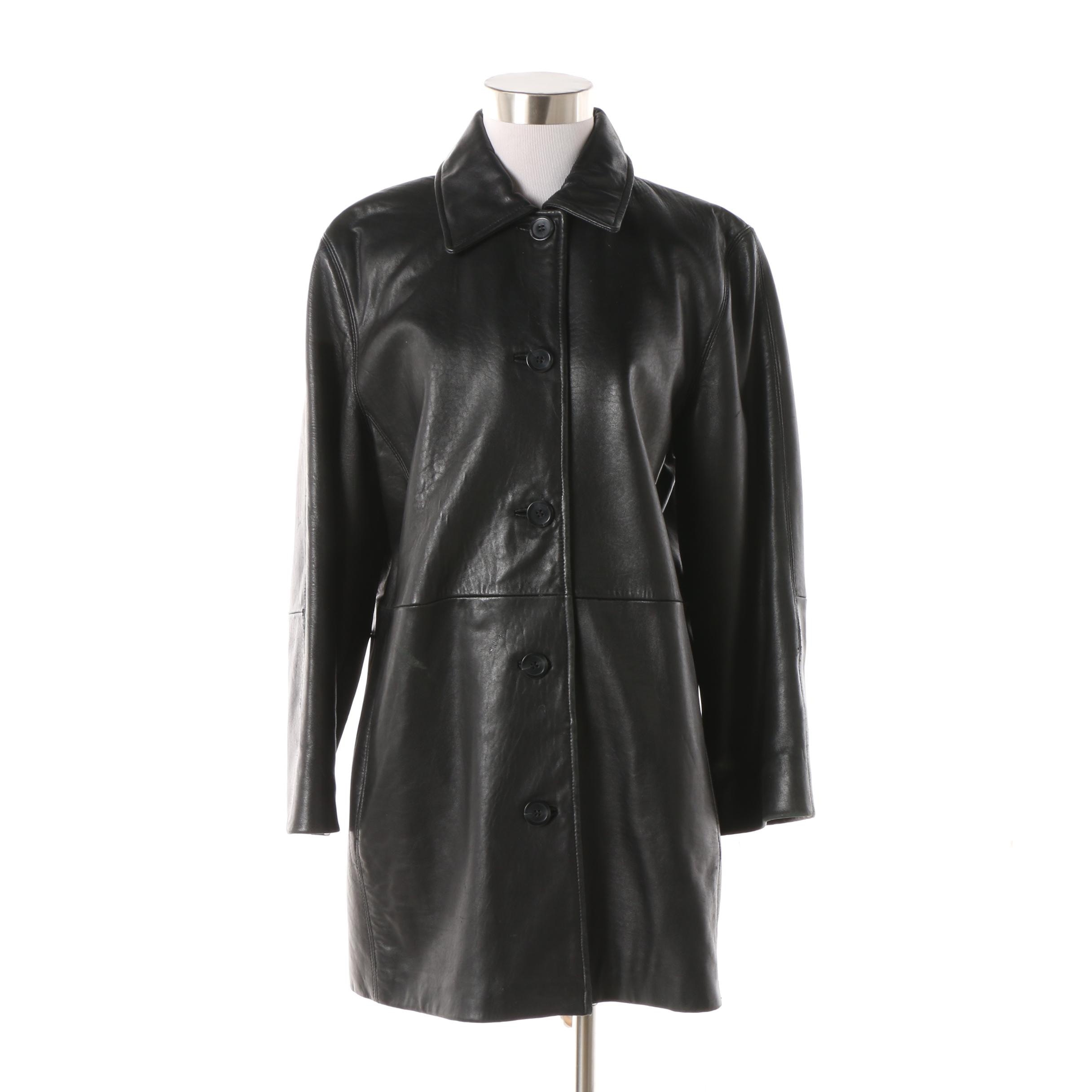 Women's JLC New York Outerwear Black Leather Jacket