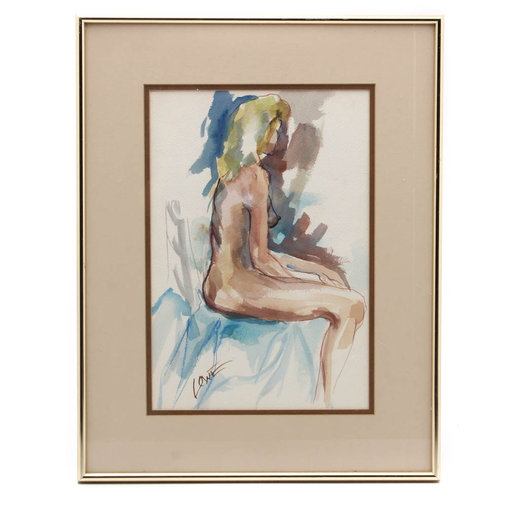 Lowe Watercolor of Female Form