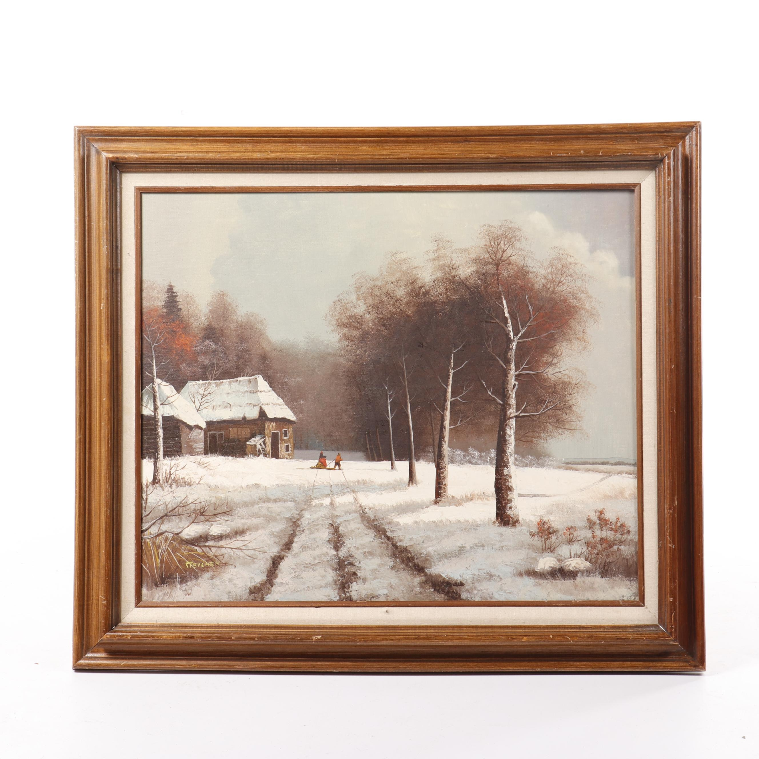 Steichen Winter Landscape Oil Painting