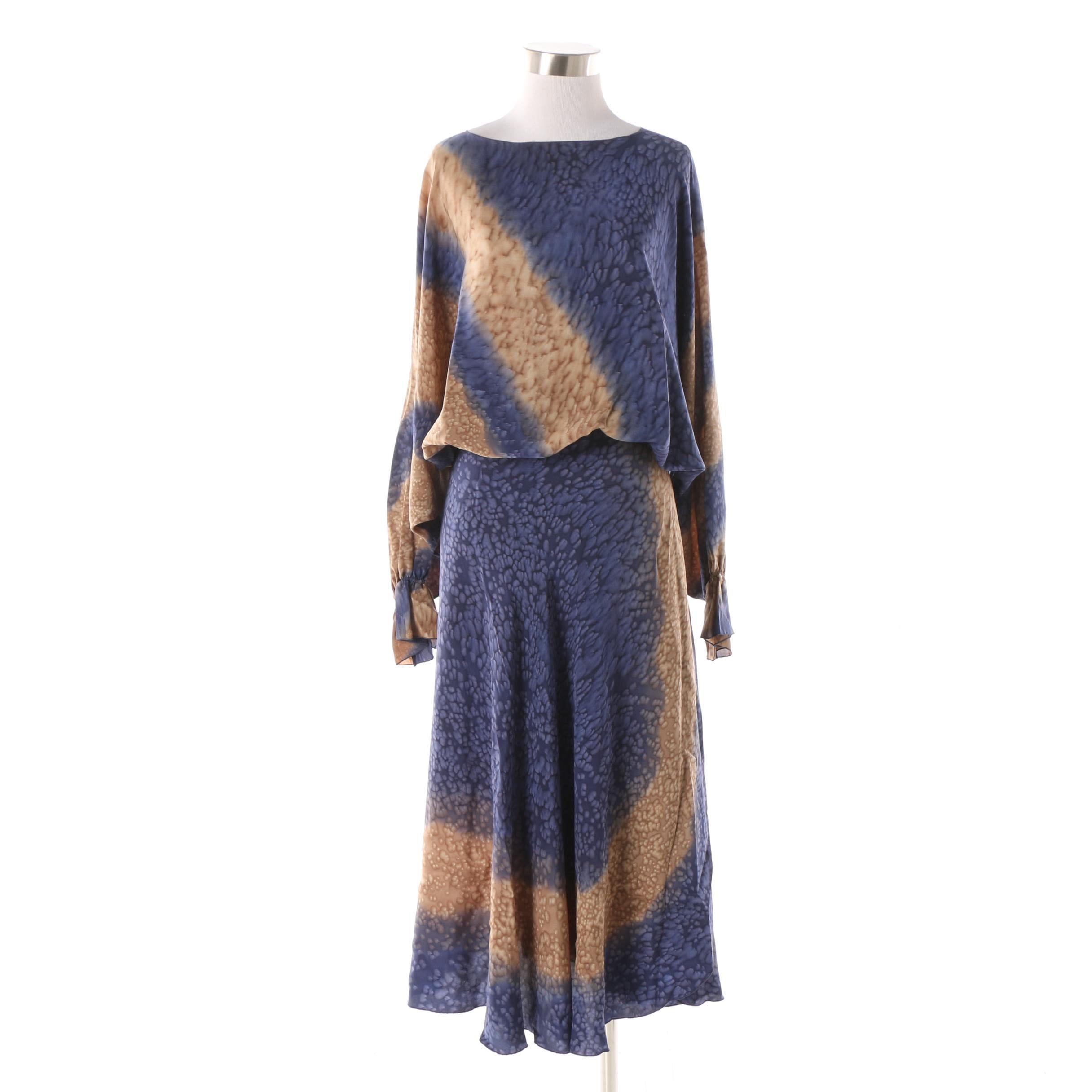 Vintage Khorshed for Sansappelle Hand-Painted Silk Separates