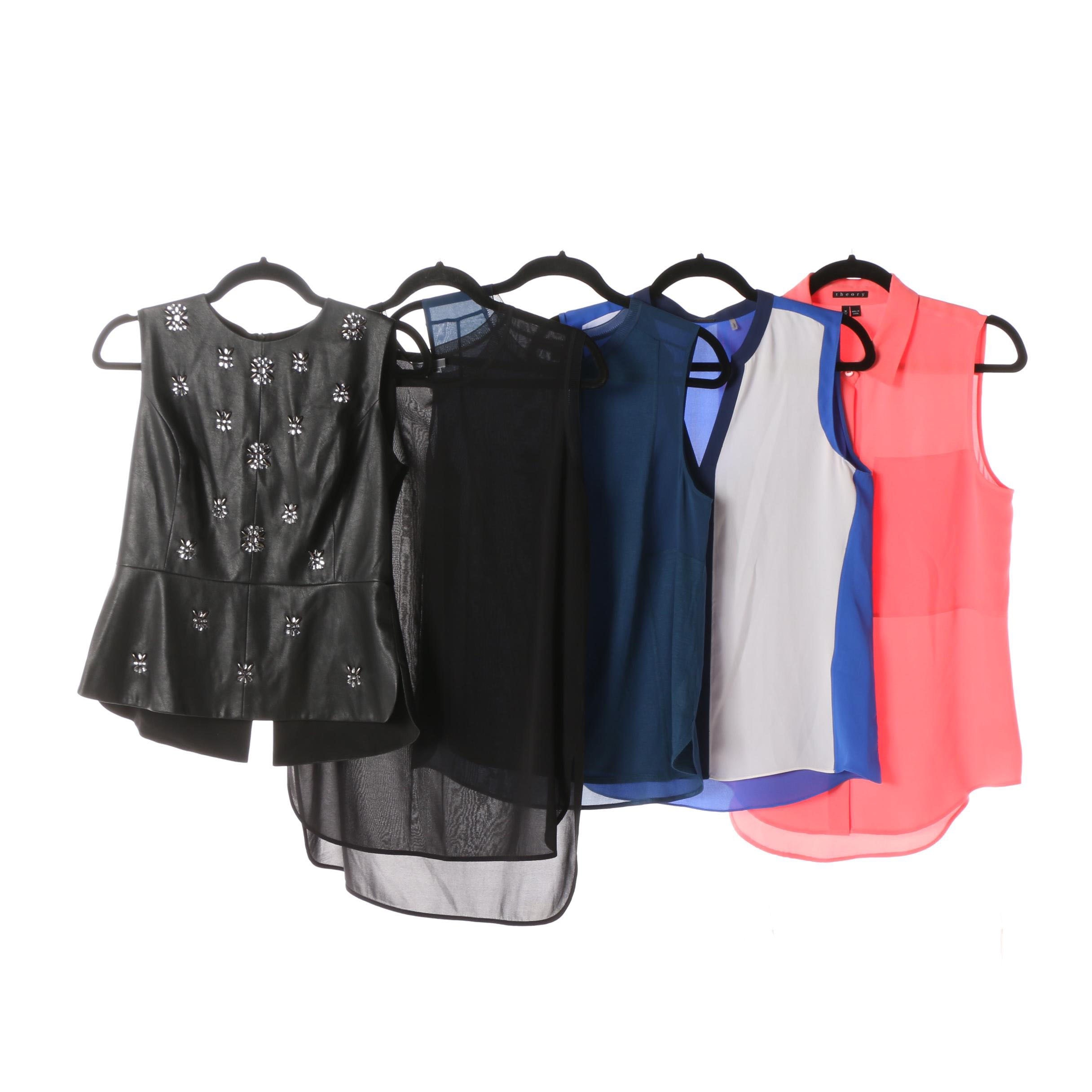 Sleeveless Tops Including Leather BCBG Maz Azria, Elie Tahari, Theory and Vince