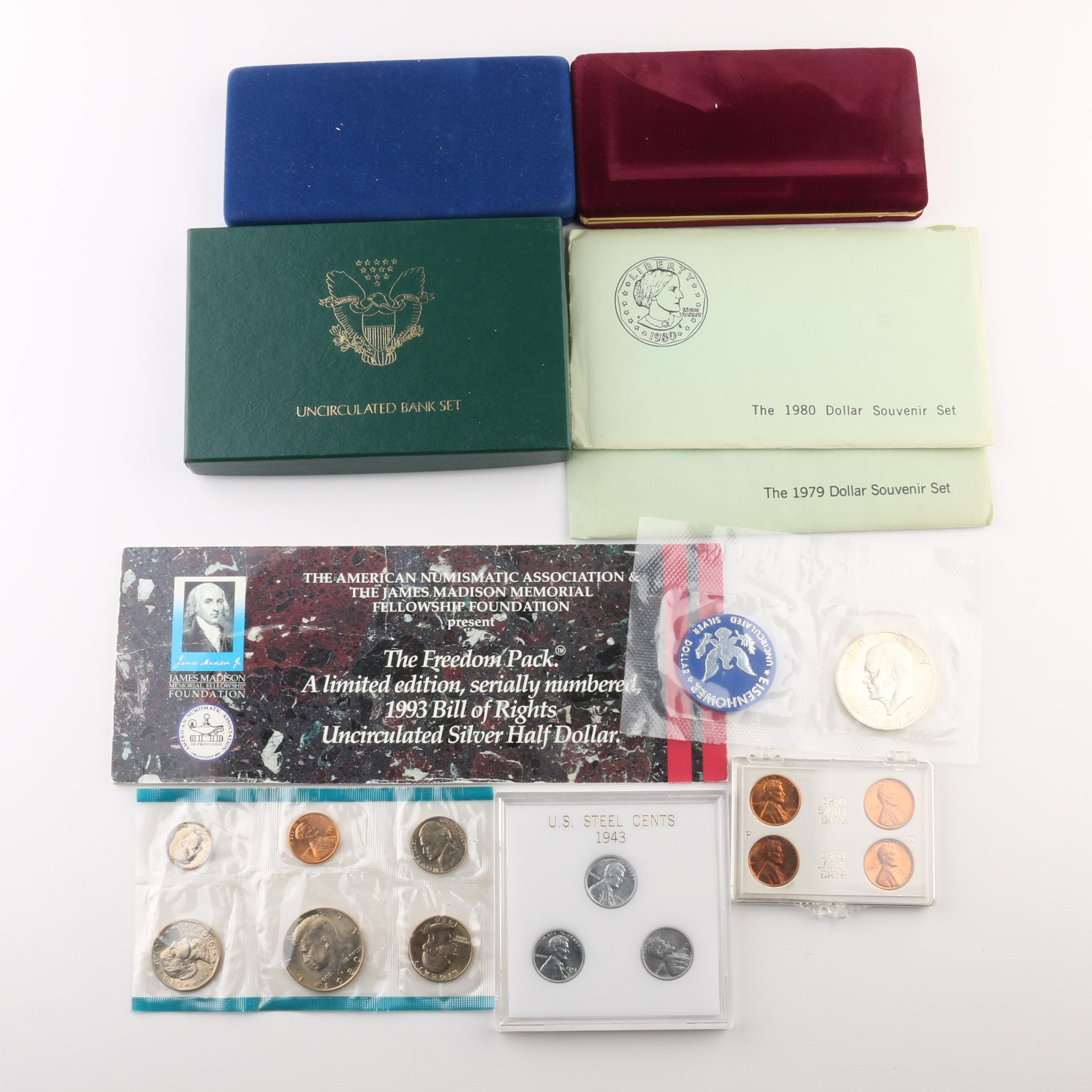 Assortment of U.S. Coin Sets and Commemoratives