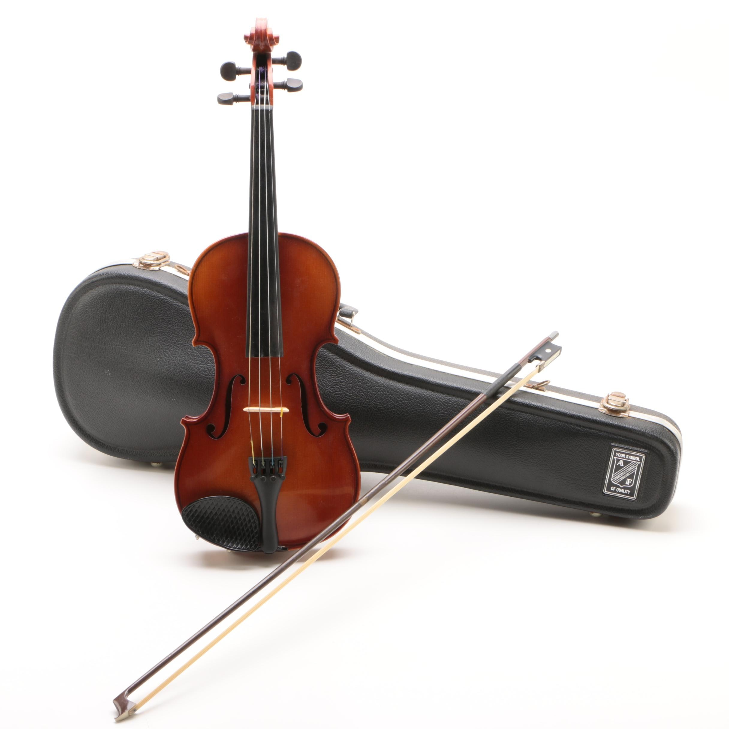 Joseph Lorenz Luby, Czechoslovakia Student Violin with Case