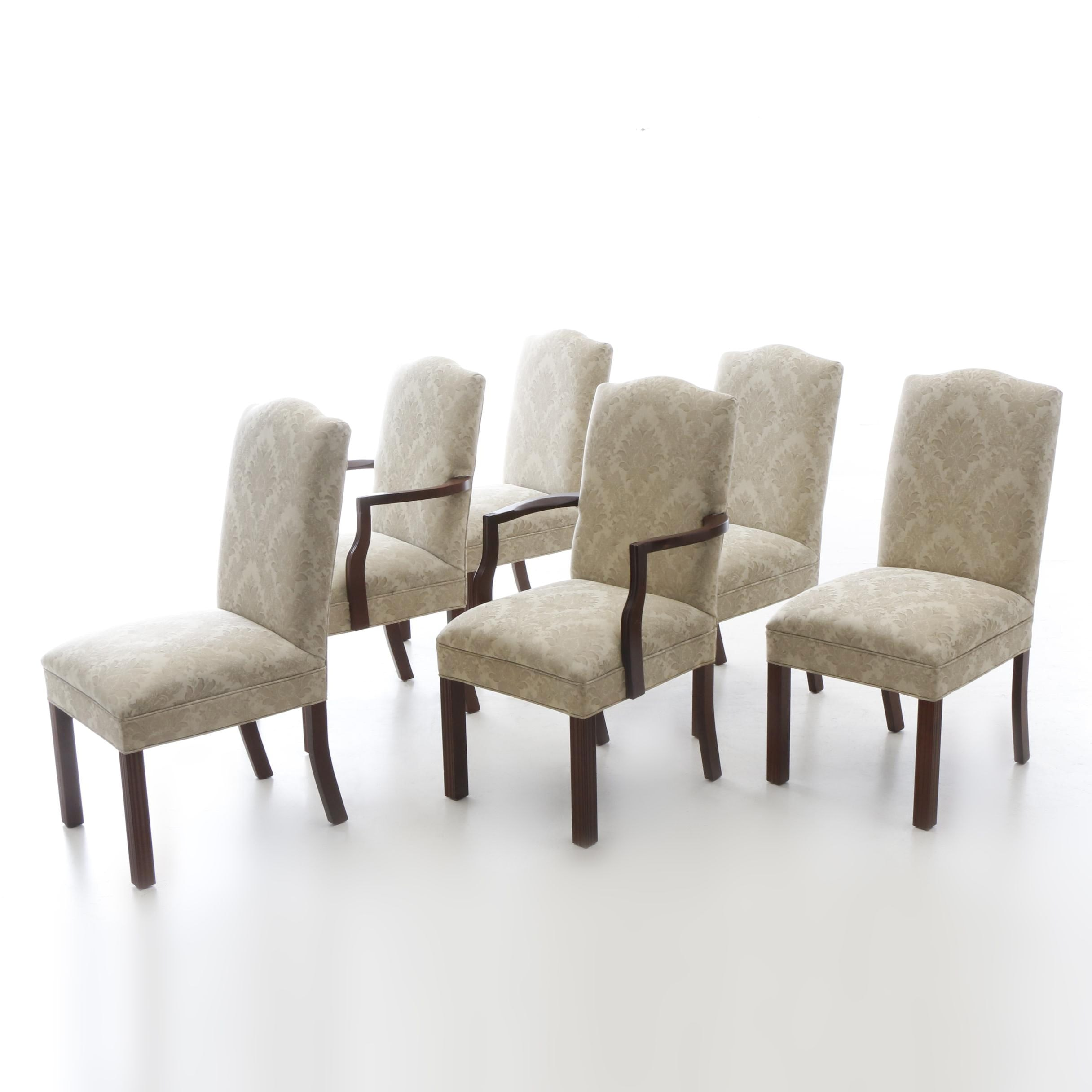 Damask Upholstered Chairs by Design Line