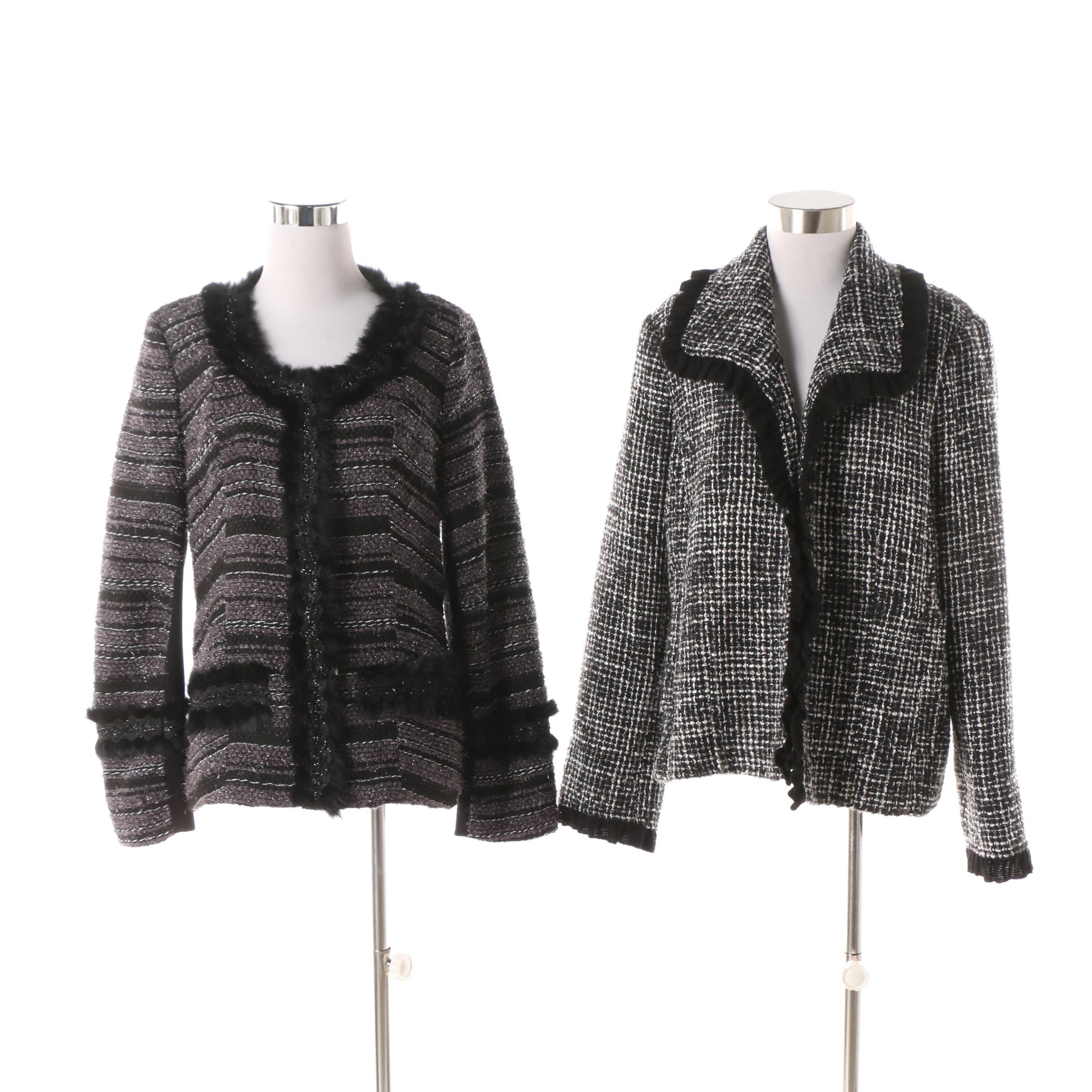Women S Suit Separates Including Neiman Marcus Rabbit Fur Trimmed