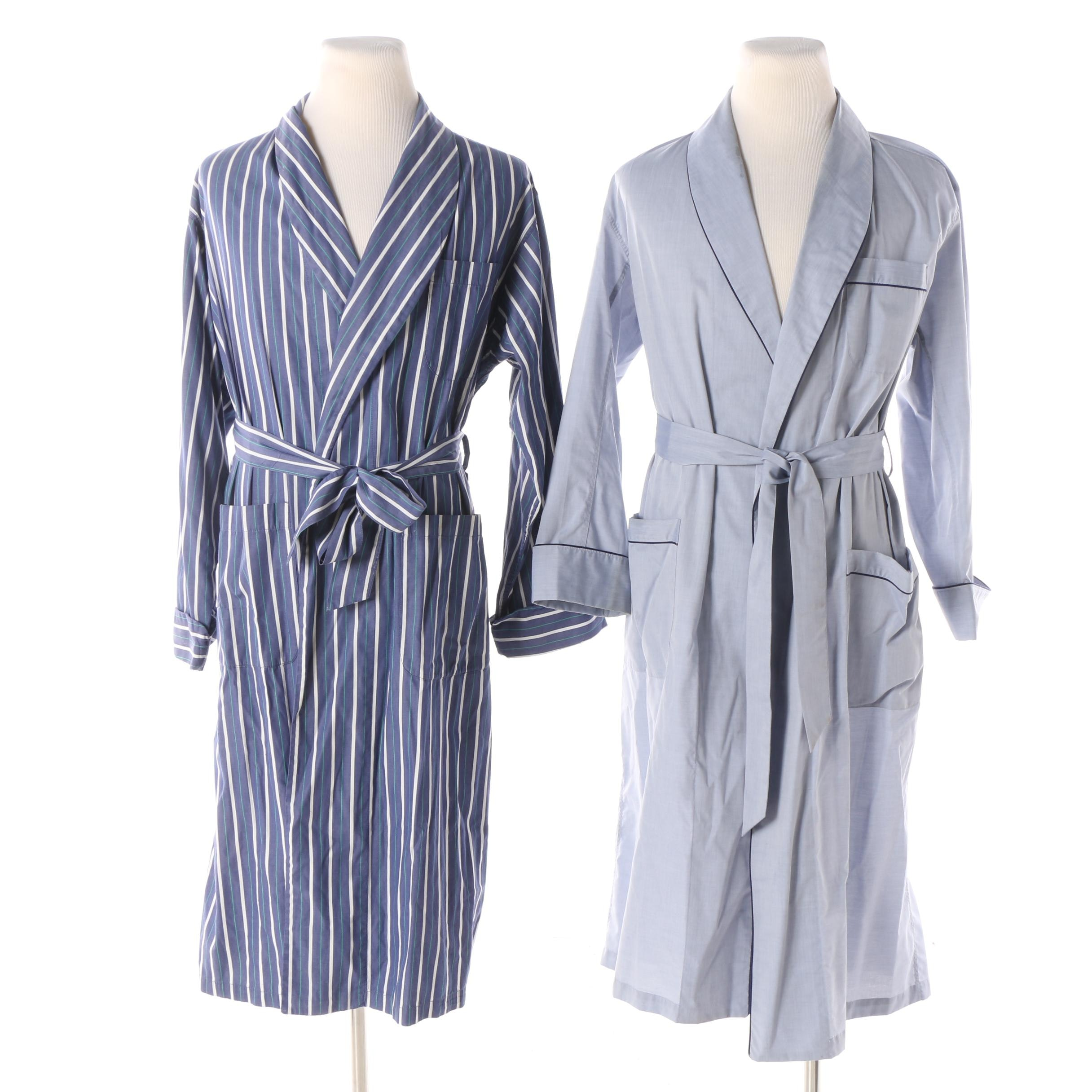 Men's Cotton Robes Including Brooks Brothers