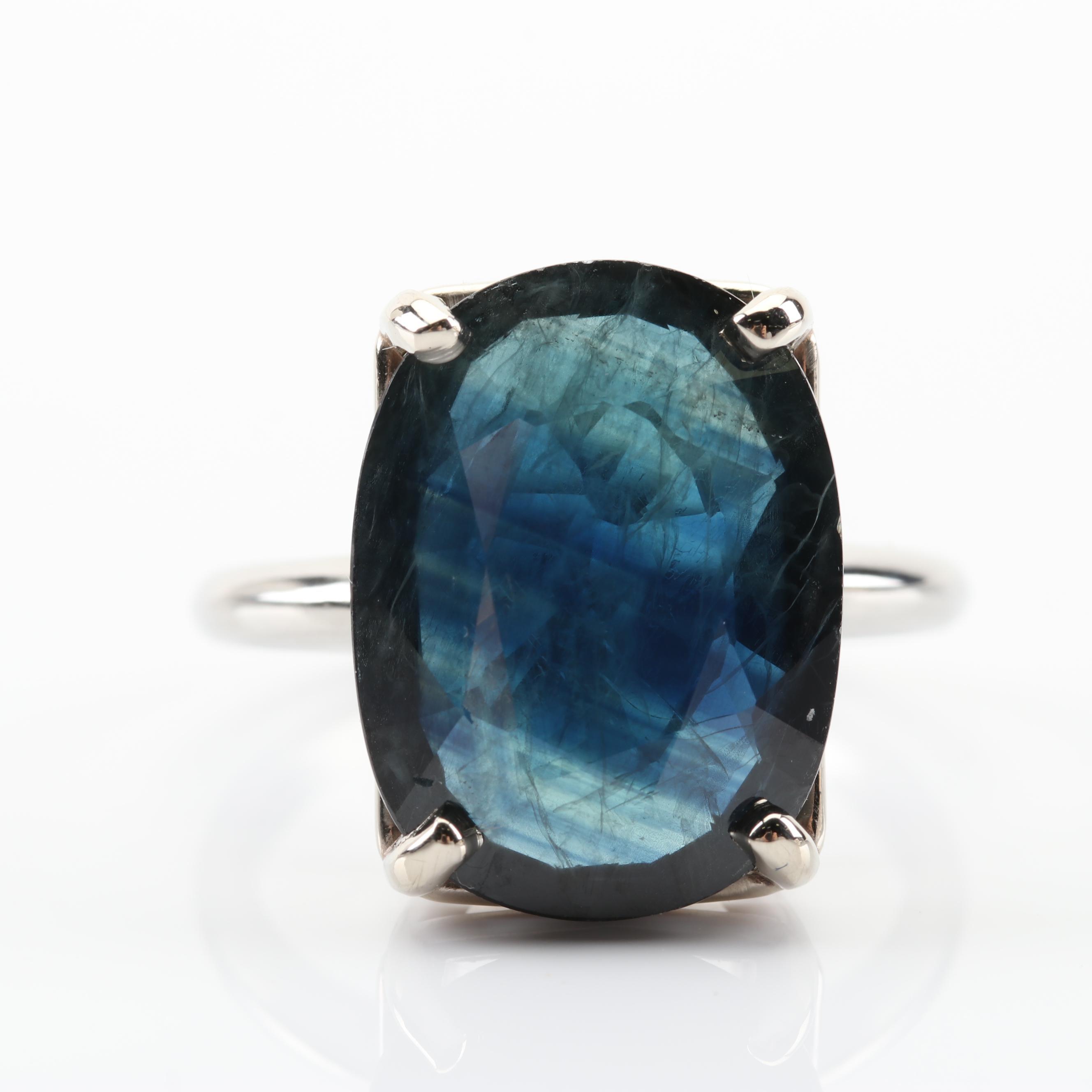Platinum 8.65 CT Sapphire Ring