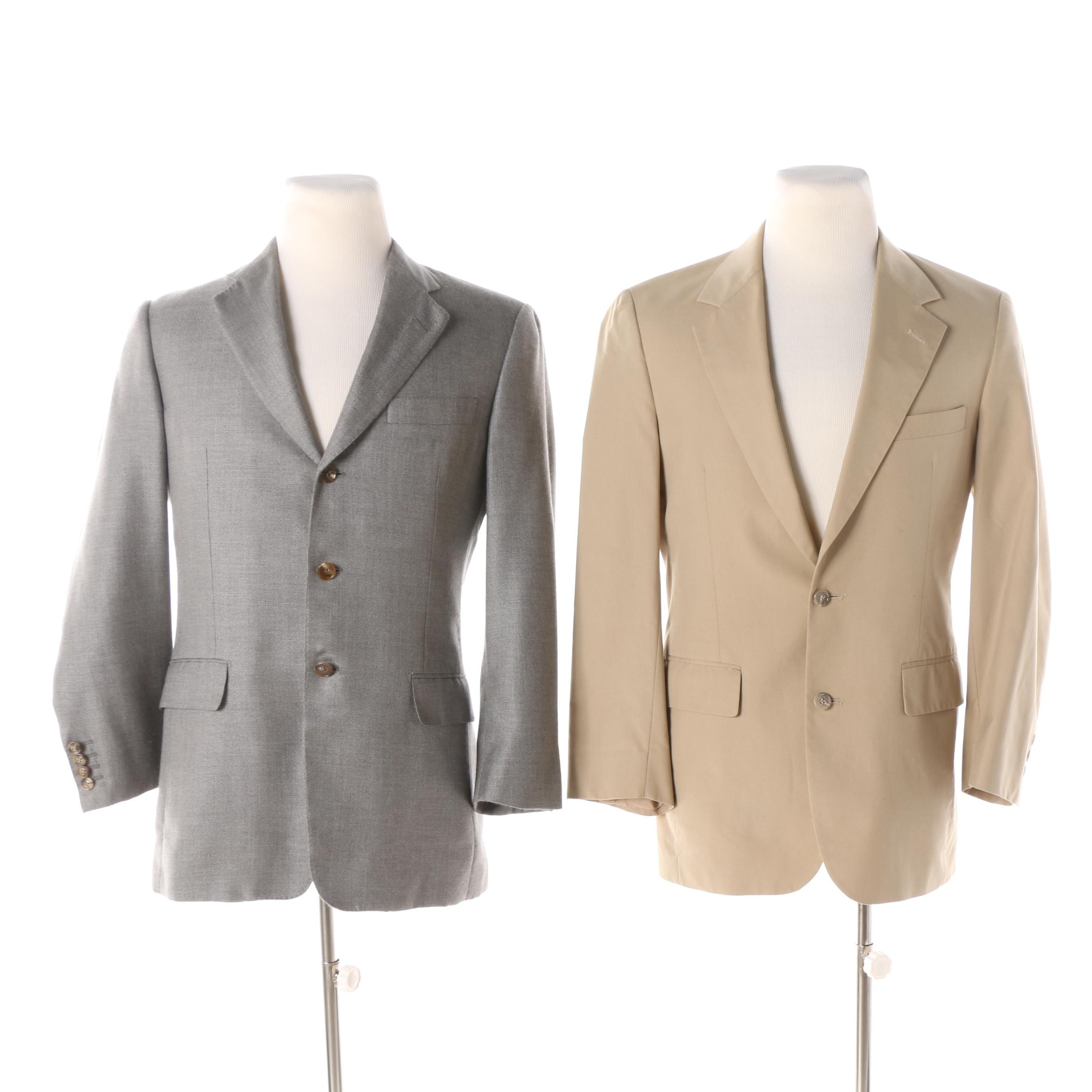 Brooks Brothers Khaki Sport Coat and Hickey Freeman Gray Sport Coat