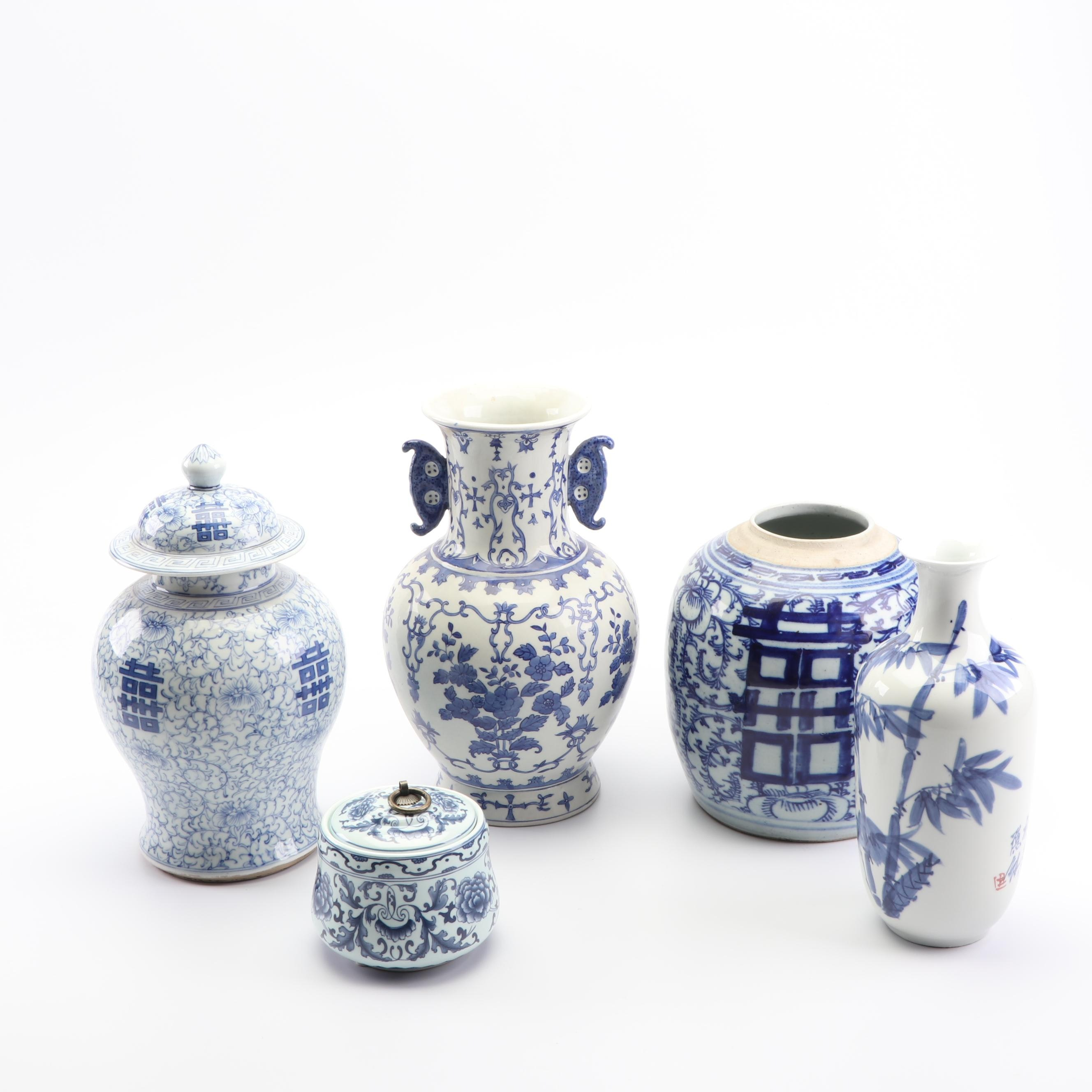 Chinese Blue and White Vases and Jars