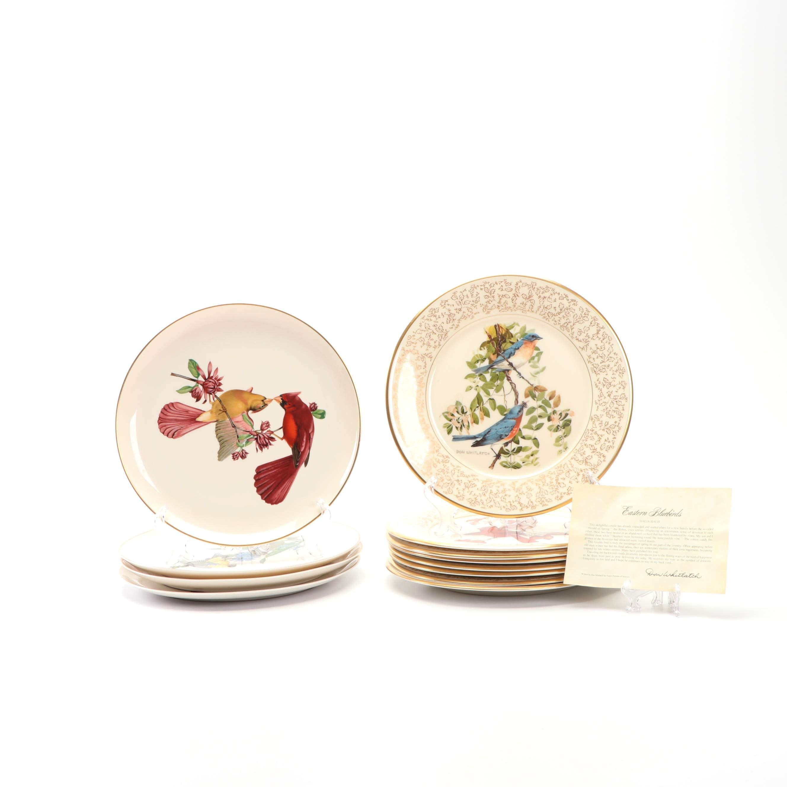 """Gorham """"Nature Portraits of America"""" and Syracuse """"American Songbirds"""" Plates"""