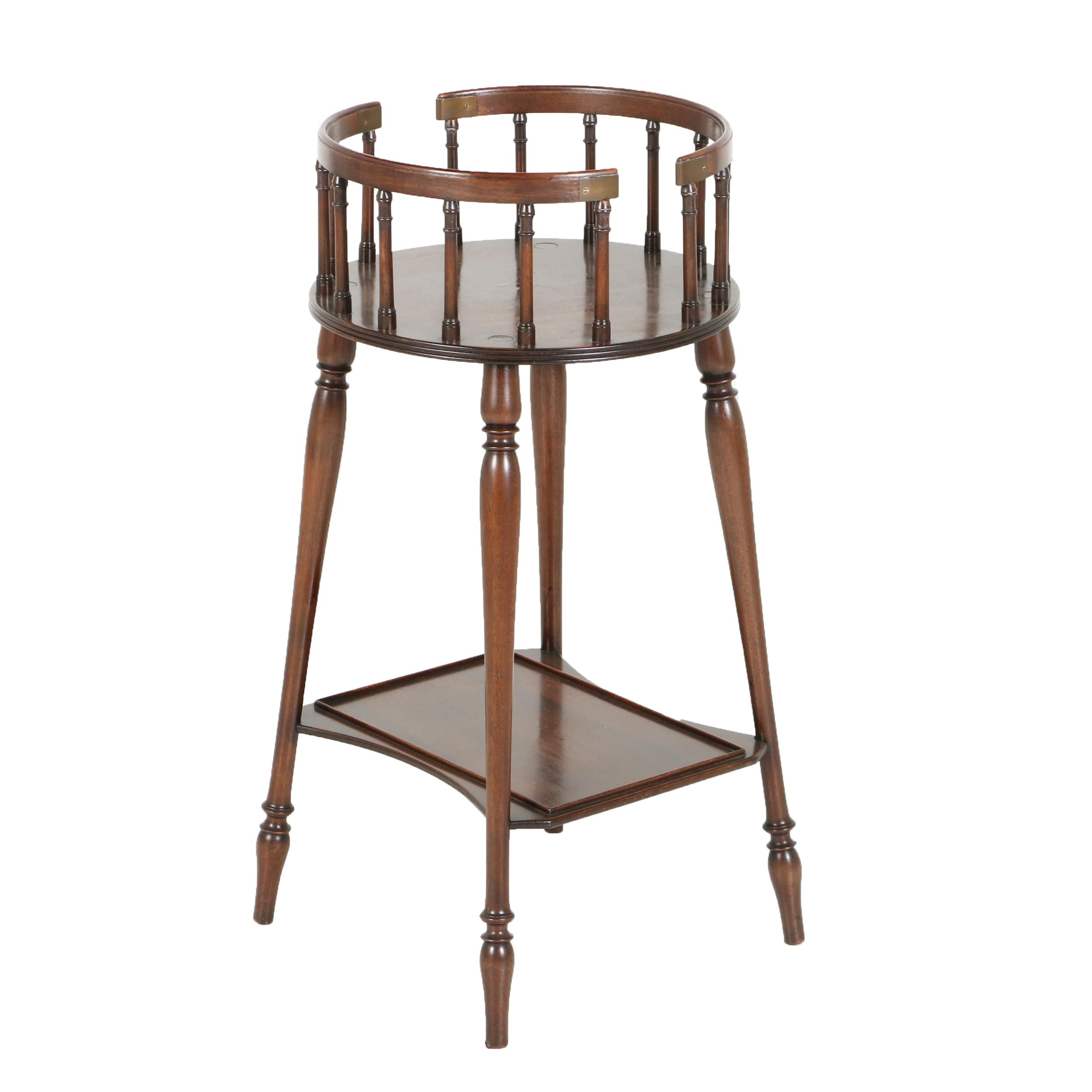 Federal Style Mahogany Two-Tier Plant Stand by Watson & Boaler, 20th Century