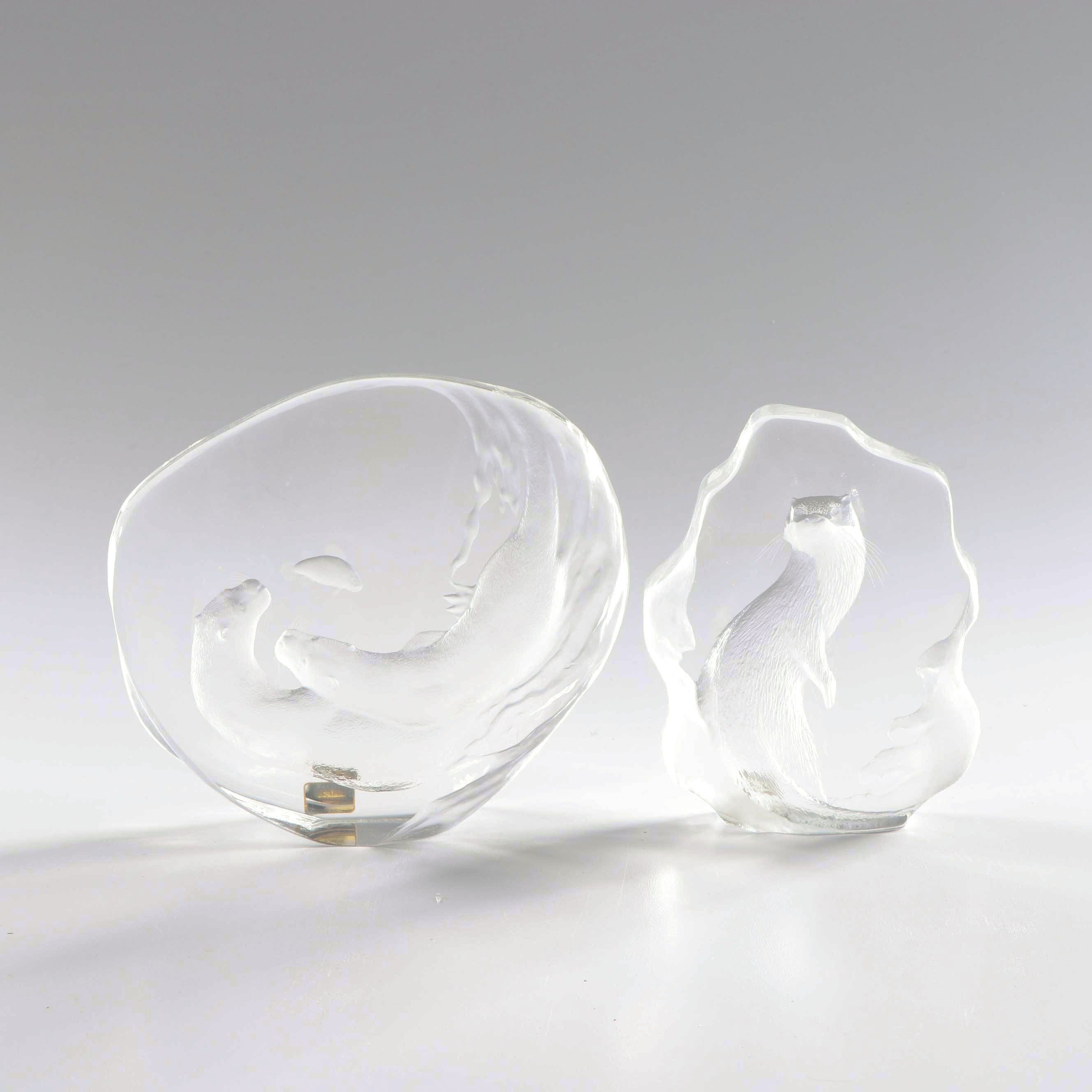 Mats Jonasson Crystal Otter Figurines