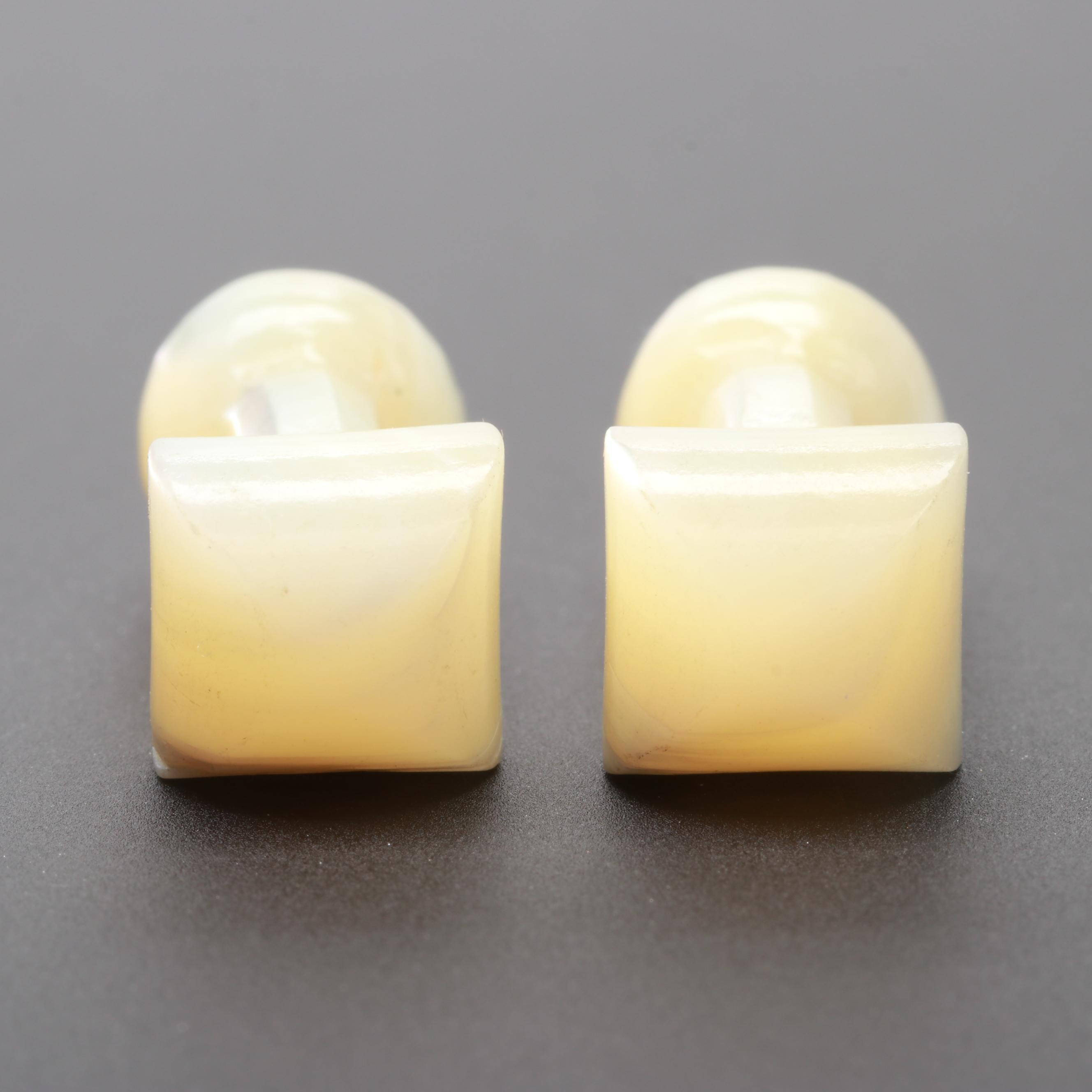 Carved Shell Cufflinks
