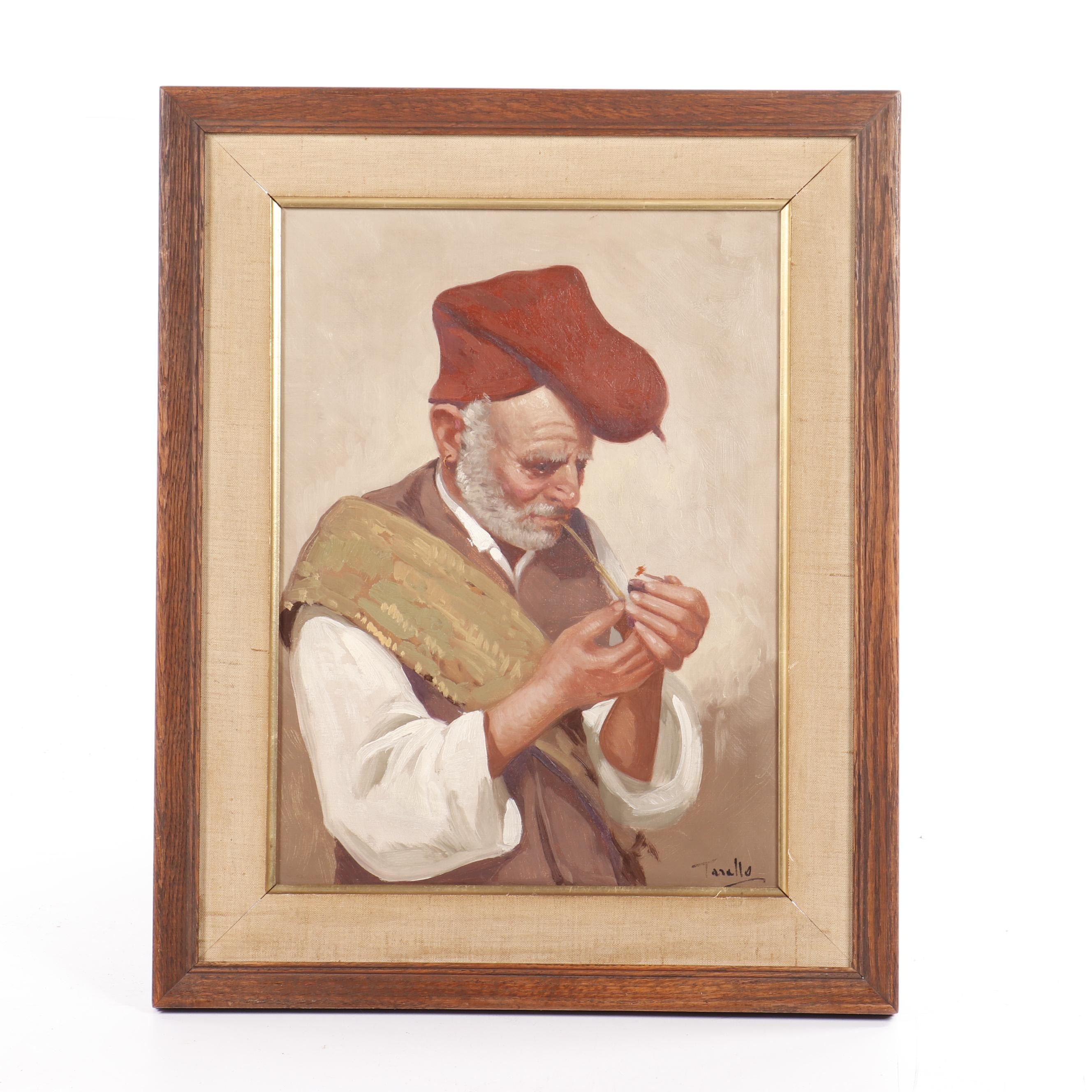 Tarallo Portrait Oil Painting of a Man