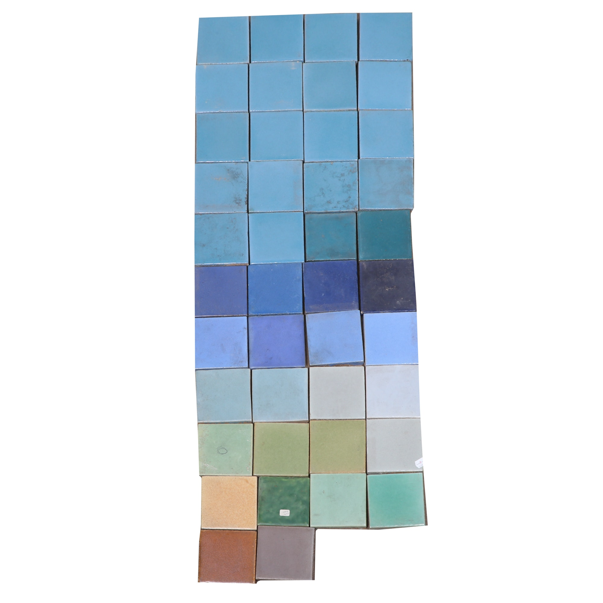 Flint Faïence Tile Company Earthenware Tiles, Early 20th Century