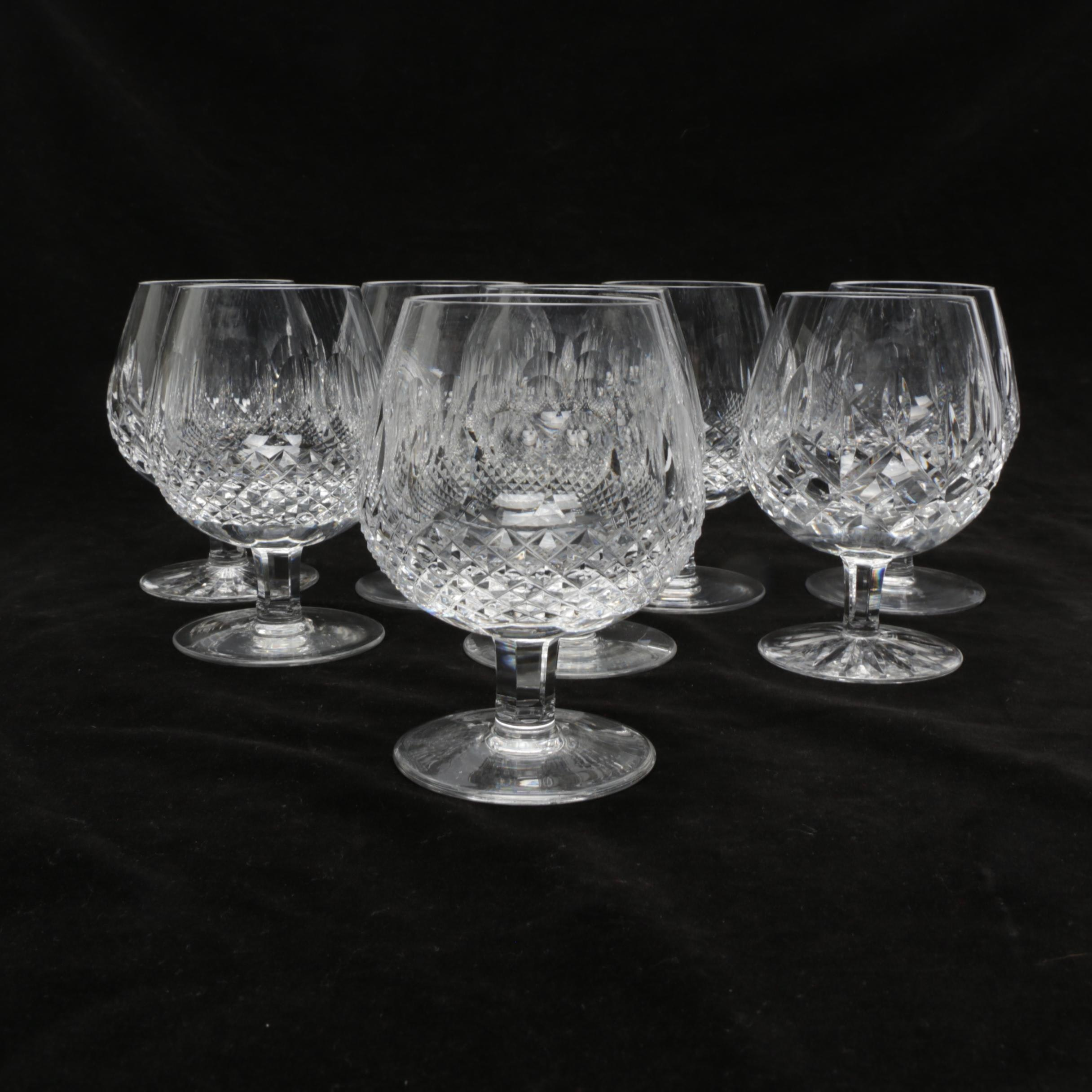 """Waterford Crystal """"Colleen"""" Brandy Snifters"""