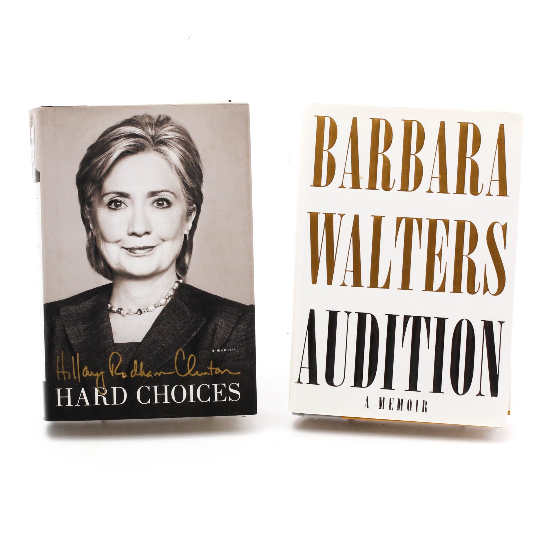 Signed First Editions by Hillary Clinton and Barbara Walters