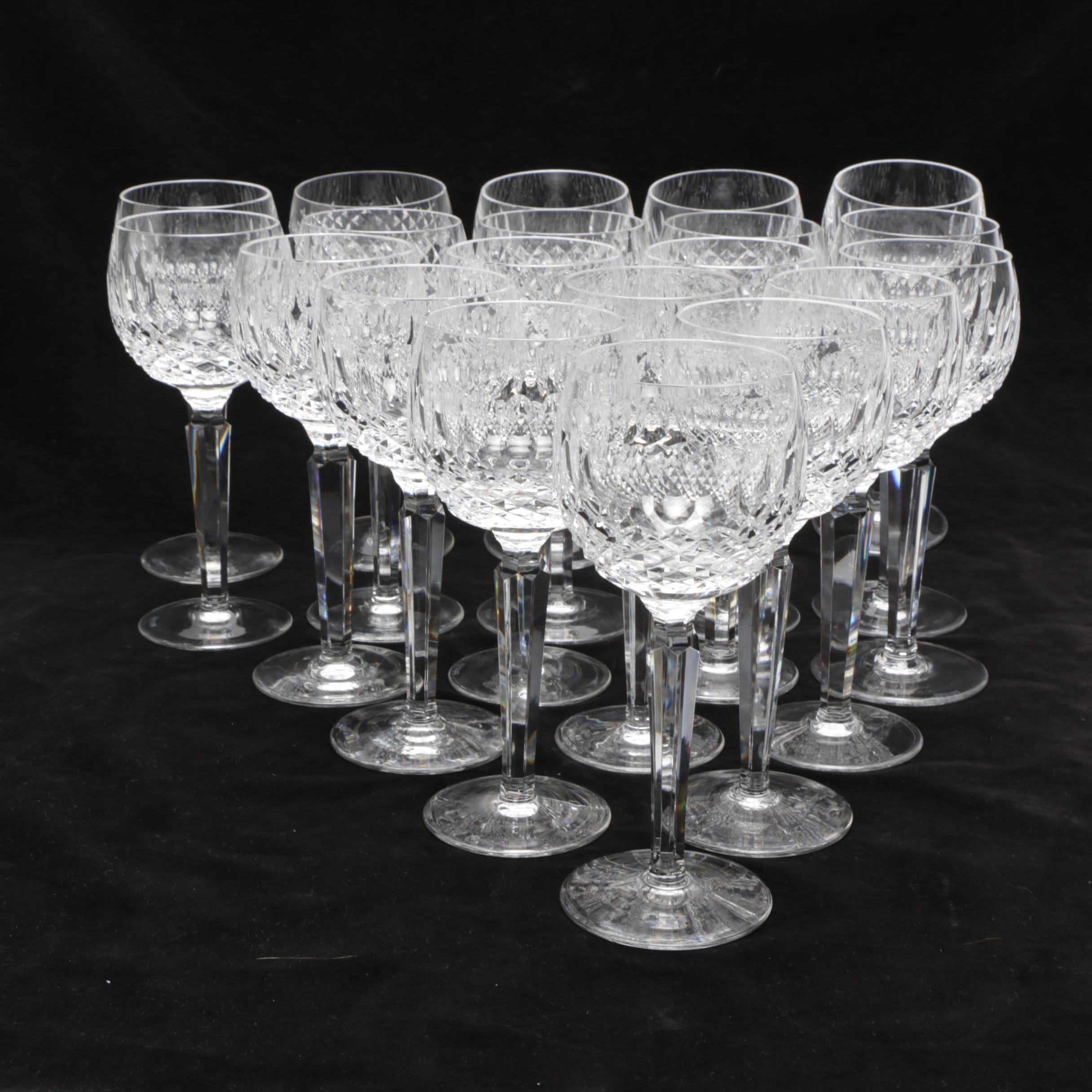 "Waterford Crystal ""Alana"" Hock Glasses"