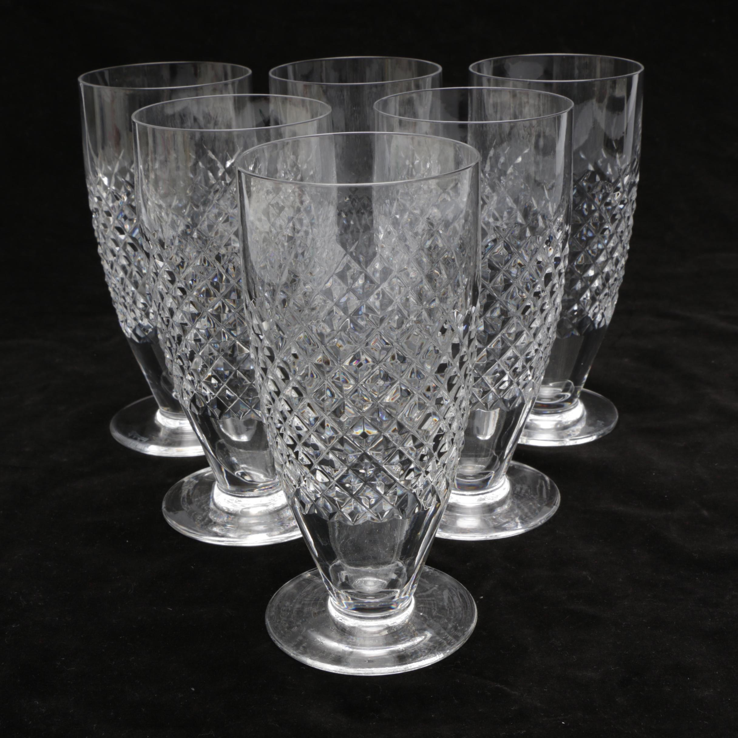 """Waterford Crystal """"Alana"""" Water Glasses"""