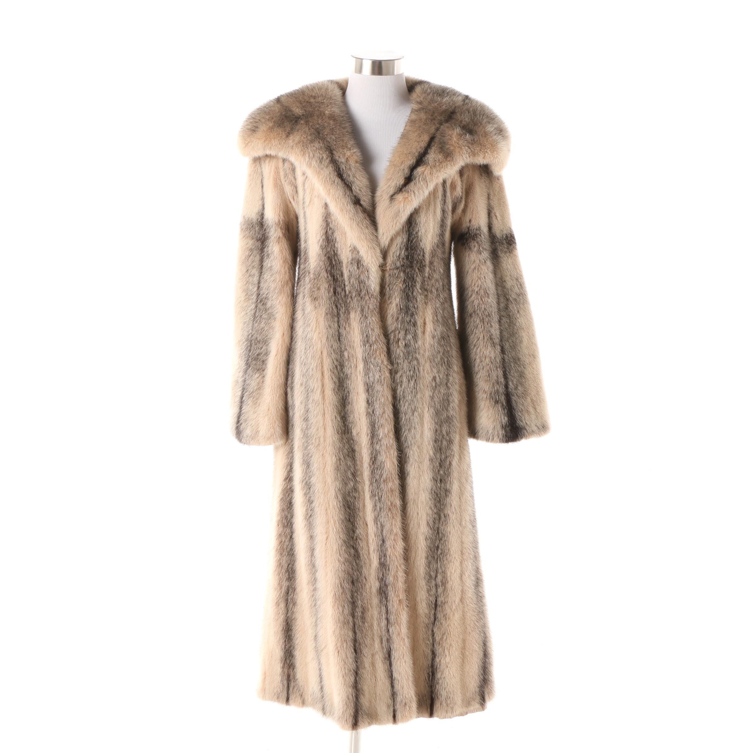 Women's Circa 1970s Vintage Fitch Fur Full-Length Coat