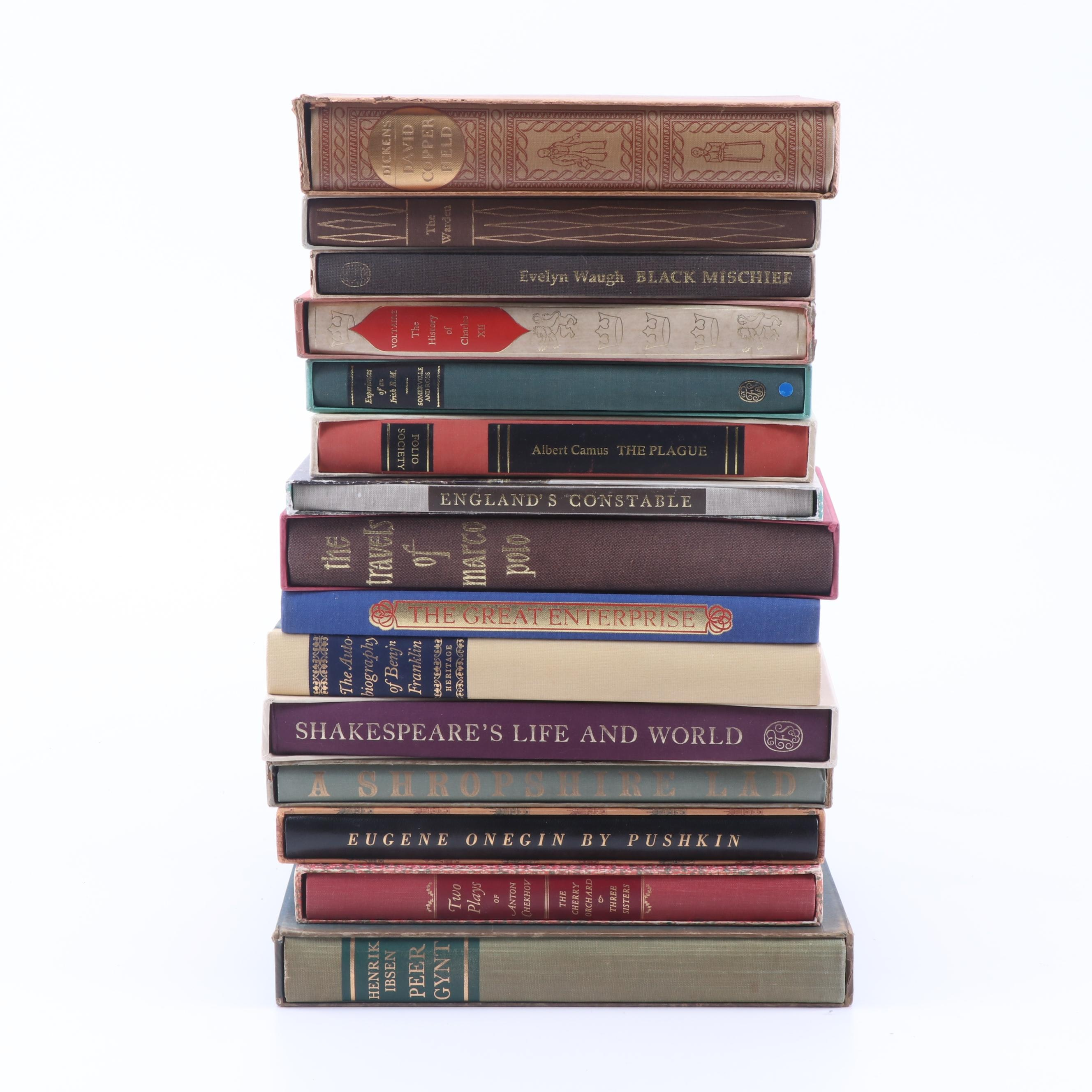 The Heritage Press and The Folio Society Editions of Classics and Plays