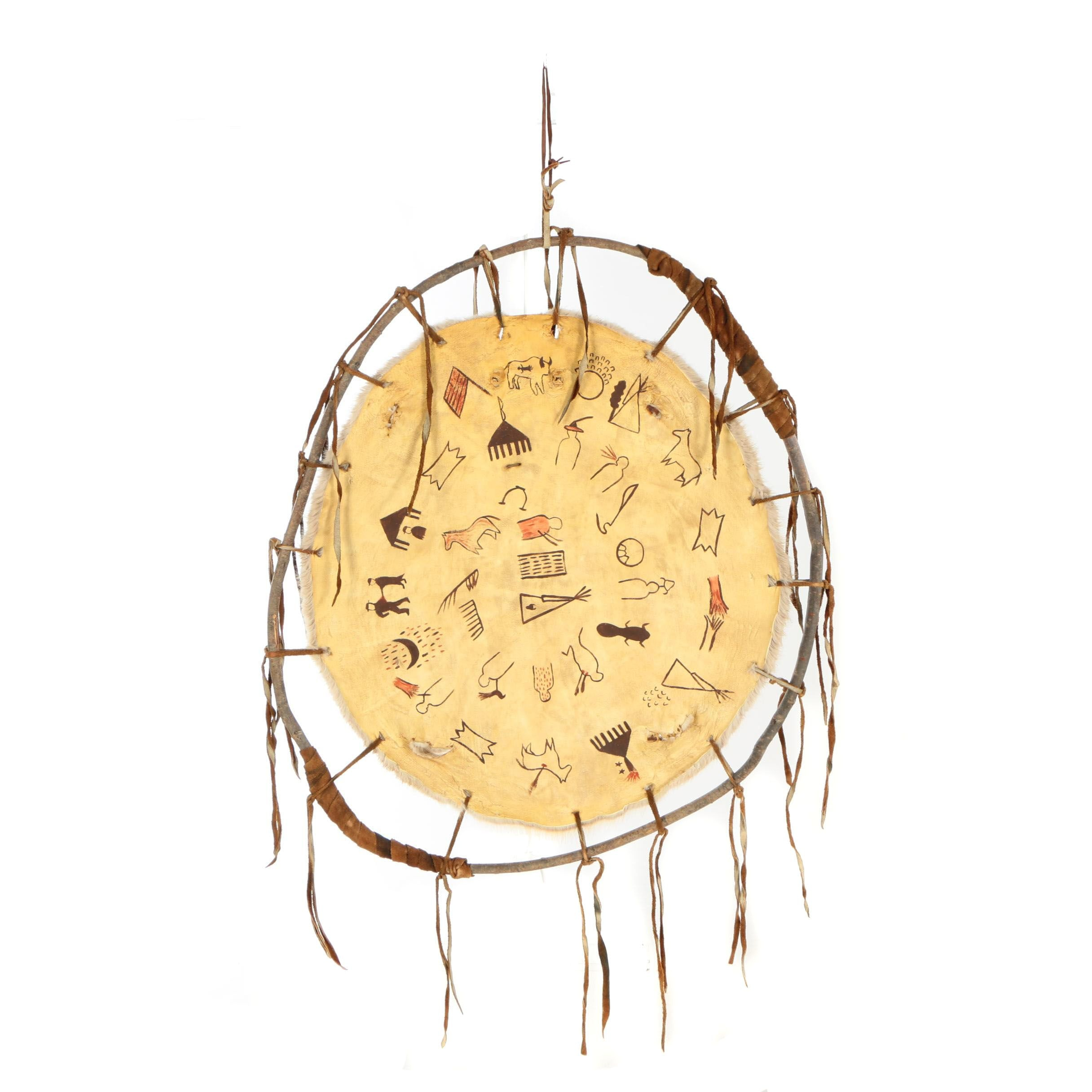 Gloria D' Willow Hoop-Stretched Beaver Pelt
