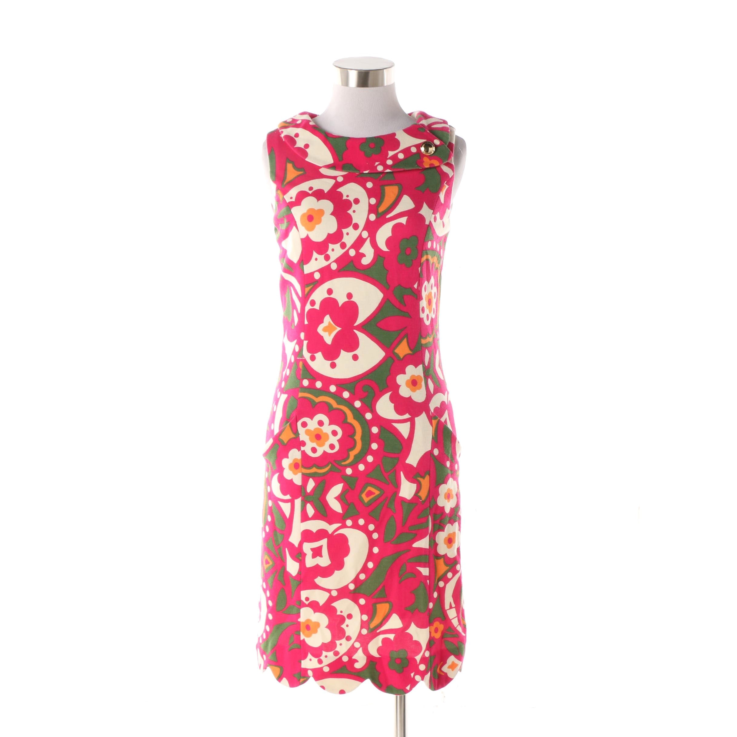 Lilly Pulitzer Floral and Geometric Print Sleeveless Dress