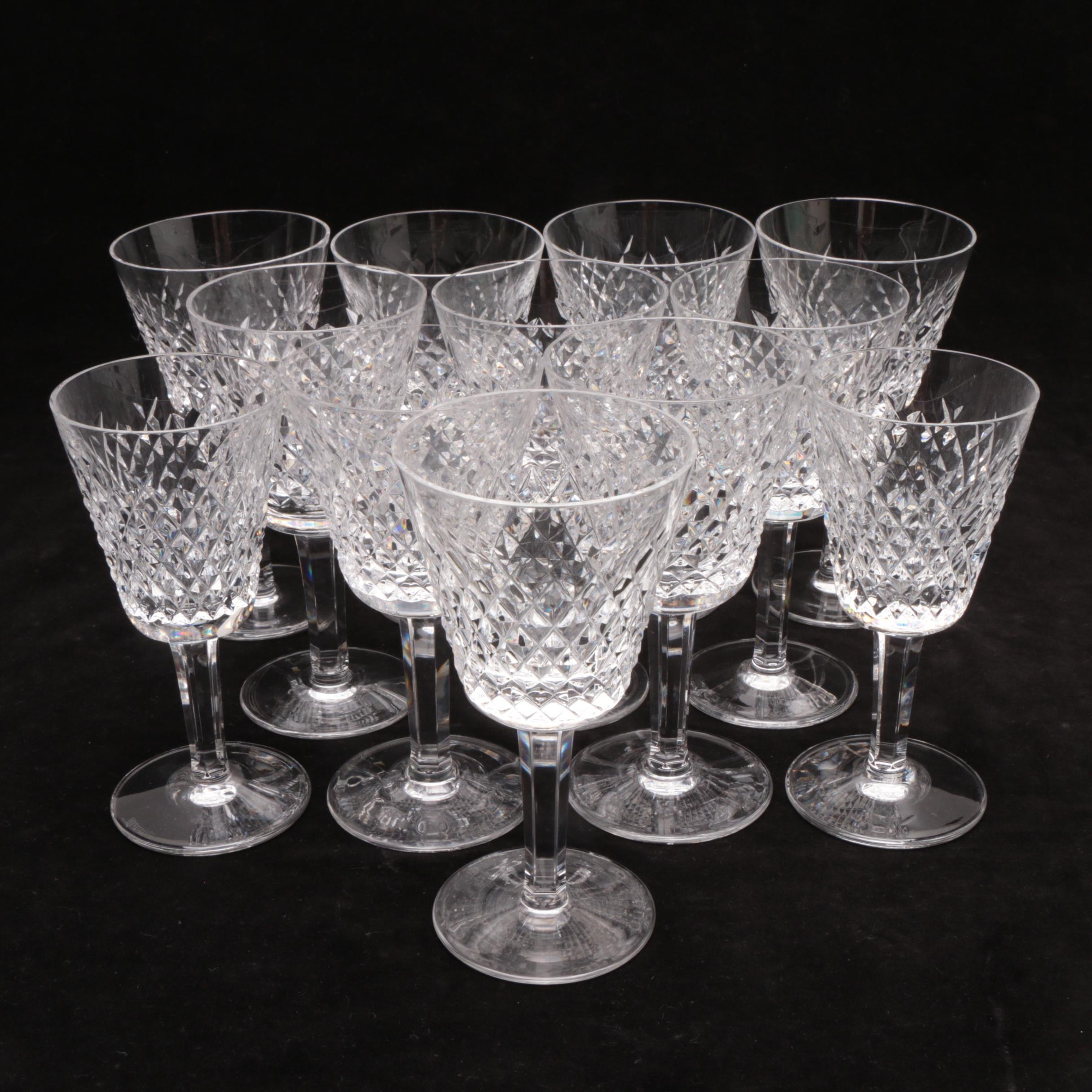 """Waterford Crystal """"Alana"""" Sherry Glasses"""