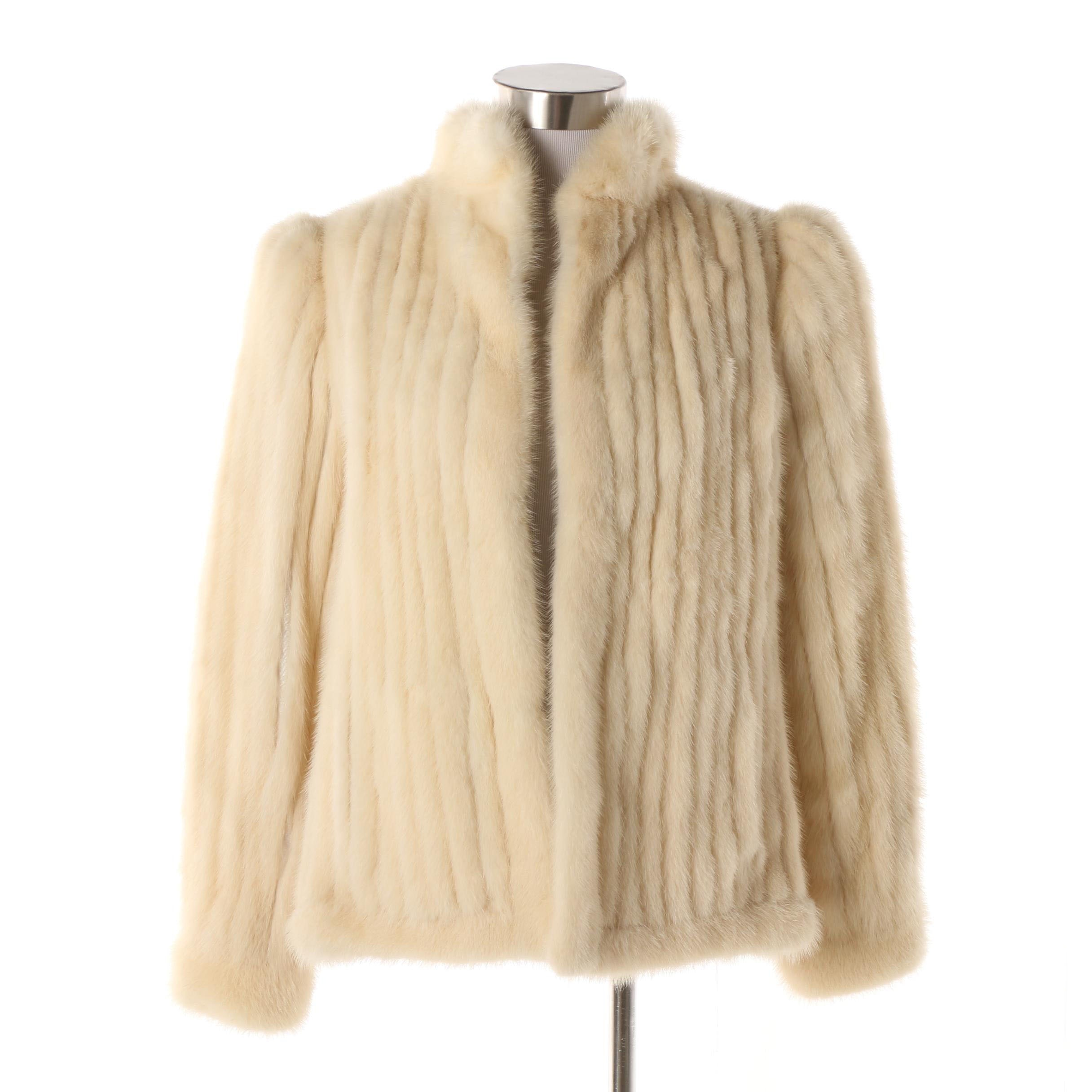 Women's Vintage Blonde Mink Fur Jacket