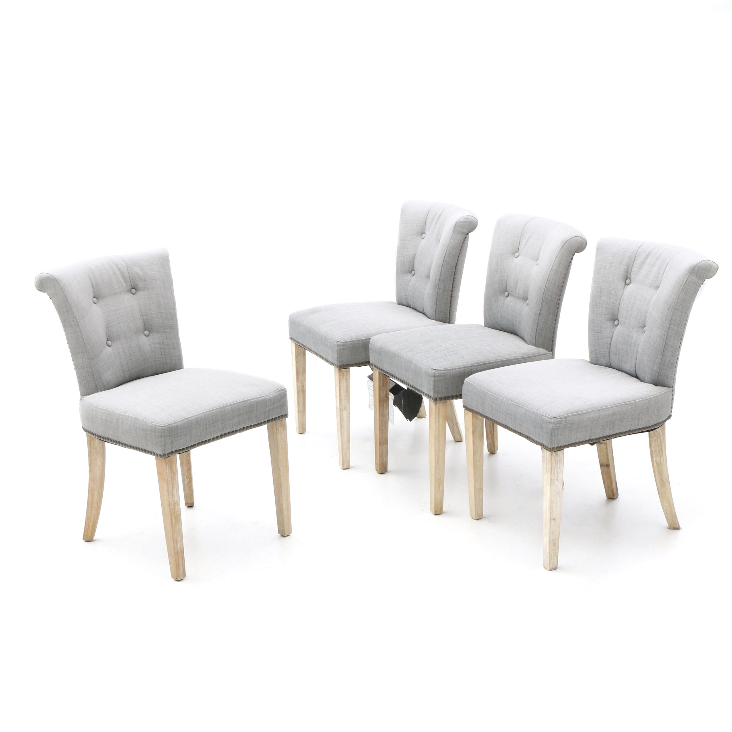 Four Upholstered Dinning Chairs